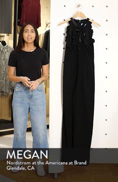 Velvet Bow Detail Jumpsuit, sales video thumbnail