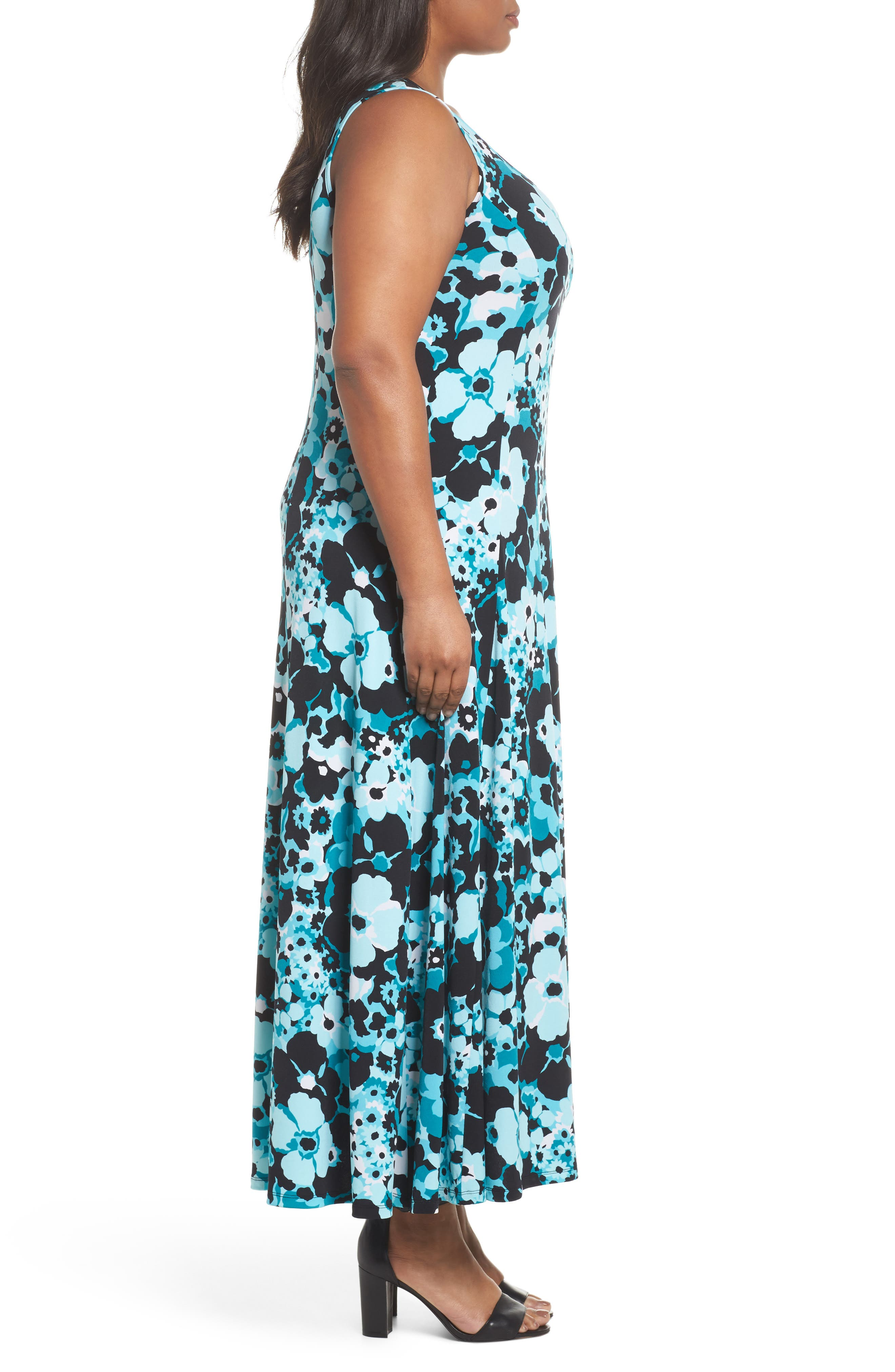 Spring Floral Maxi Tank Dress,                             Alternate thumbnail 3, color,