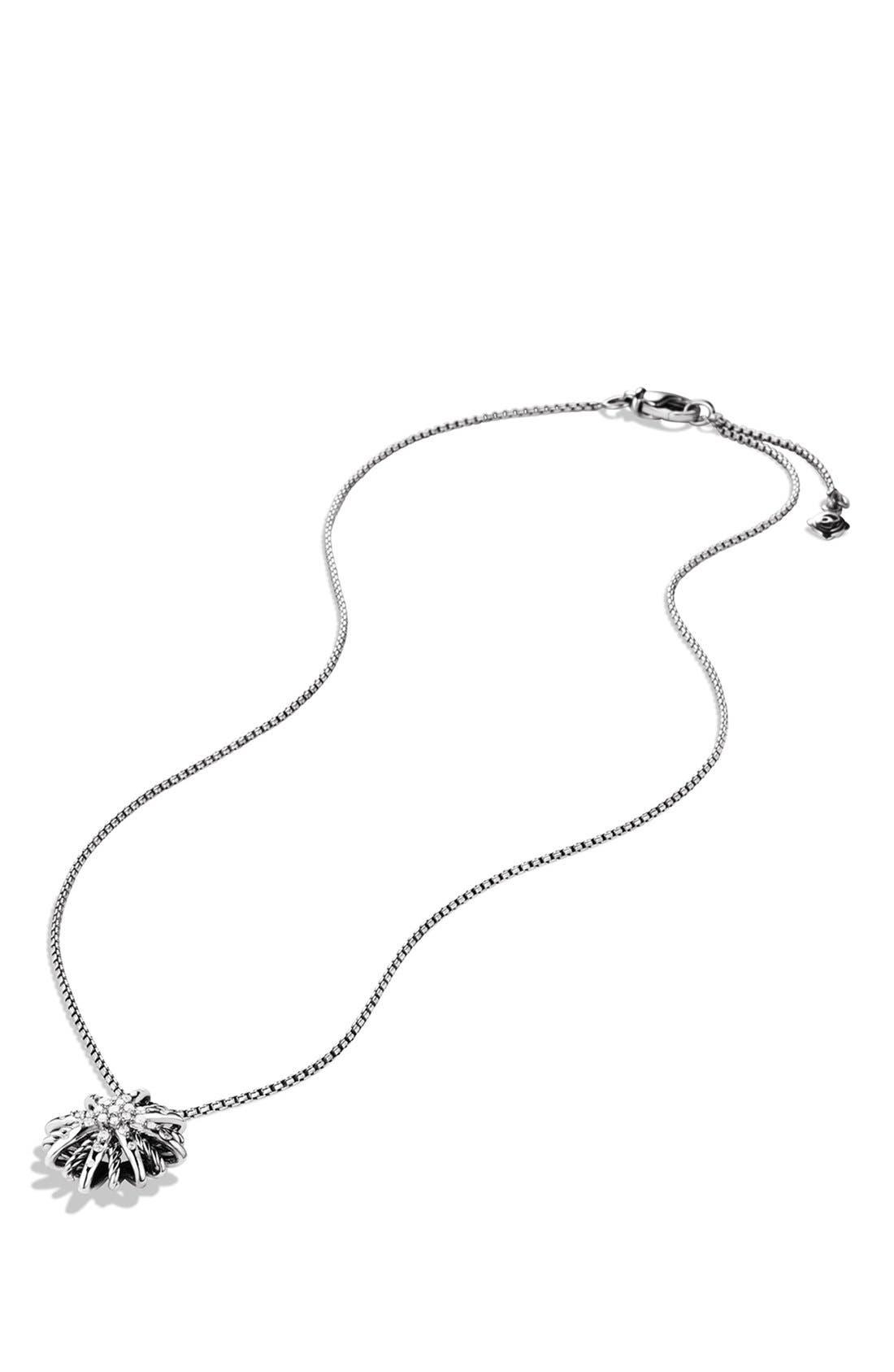 'Starburst' Small Pendant with Diamonds on Chain,                             Alternate thumbnail 2, color,                             DIAMOND