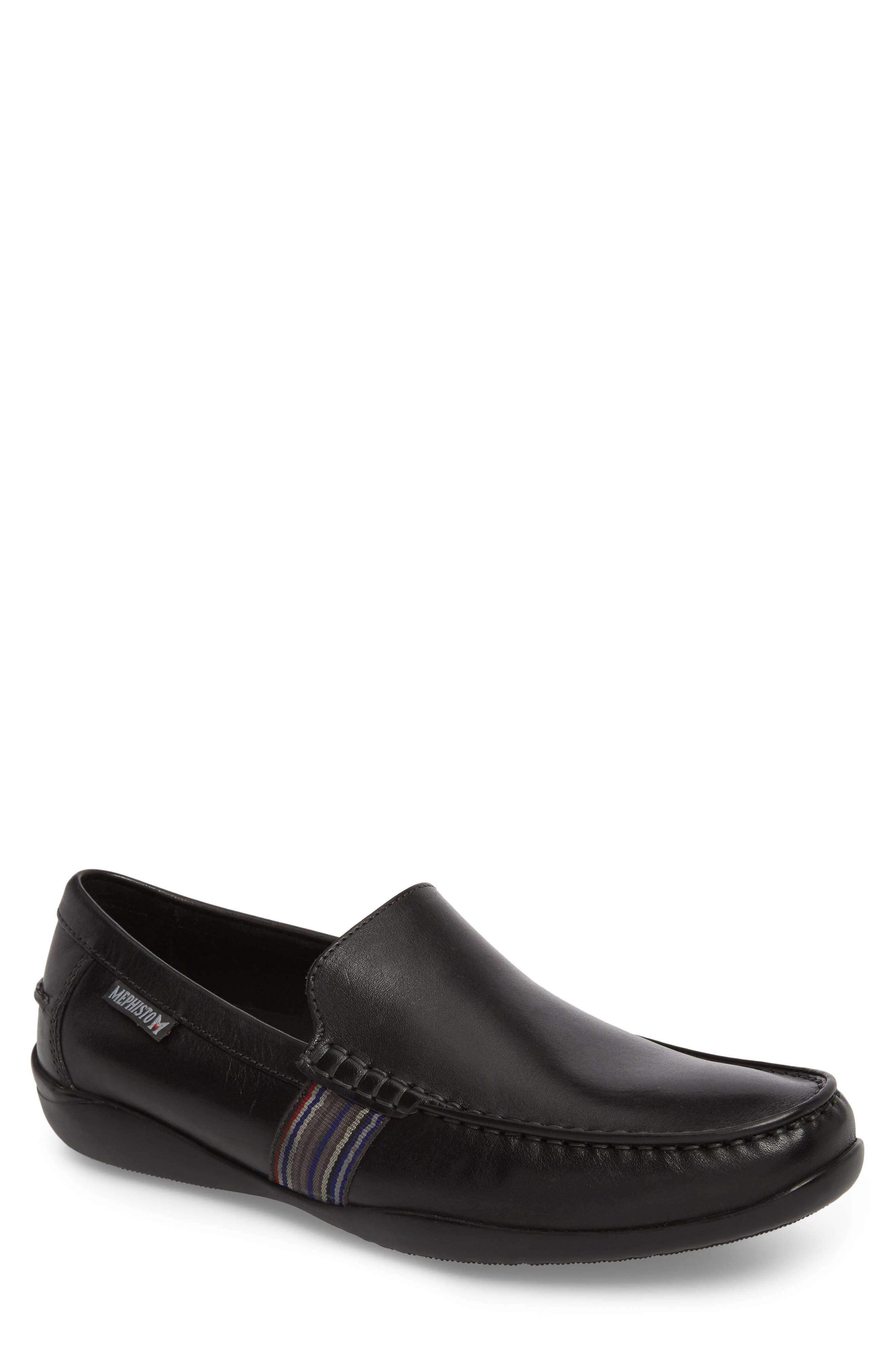 Idris Banded Loafer,                             Main thumbnail 1, color,                             BLACK LEATHER