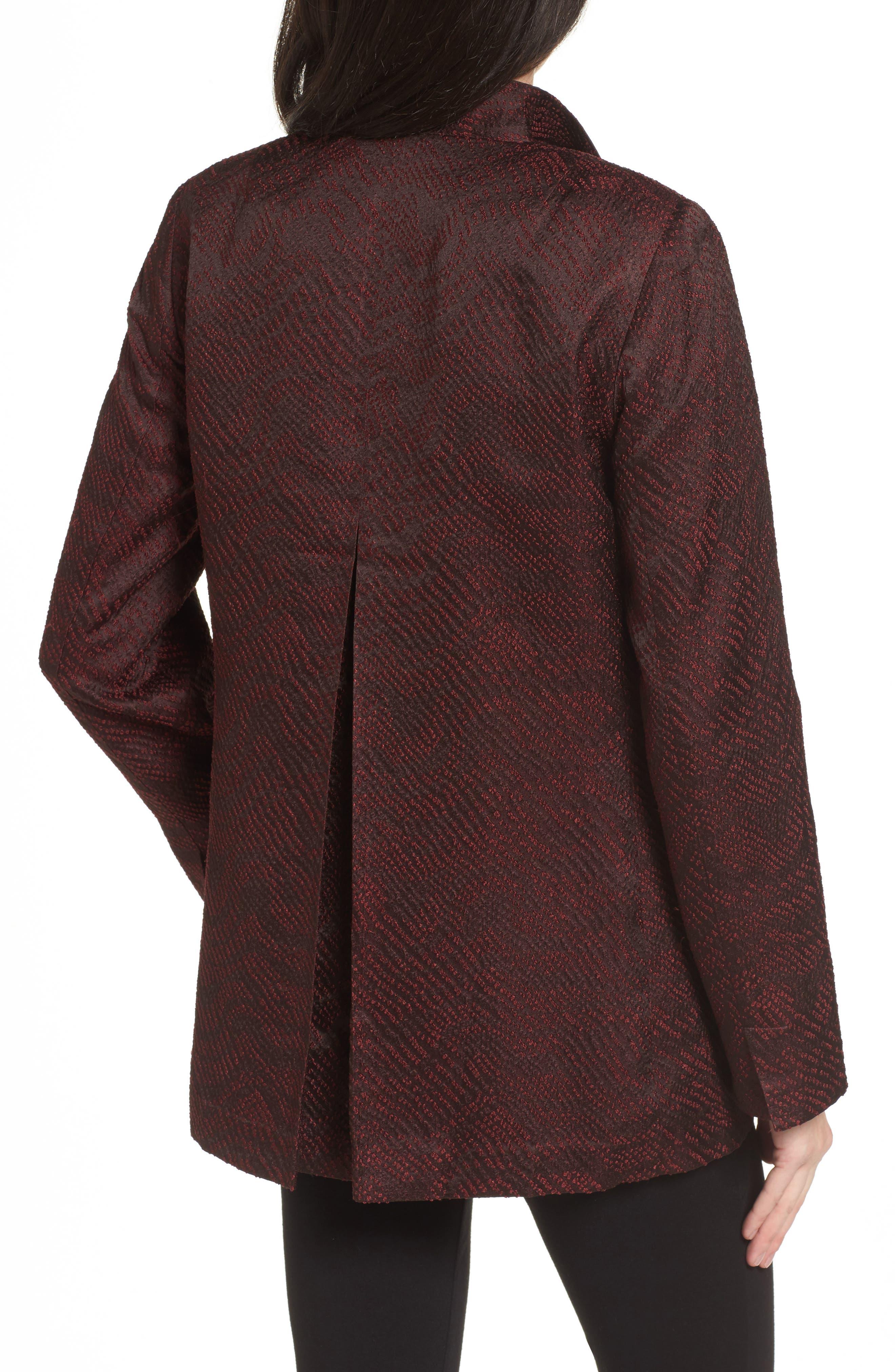 Silk Blend Jacquard Jacket,                             Alternate thumbnail 4, color,