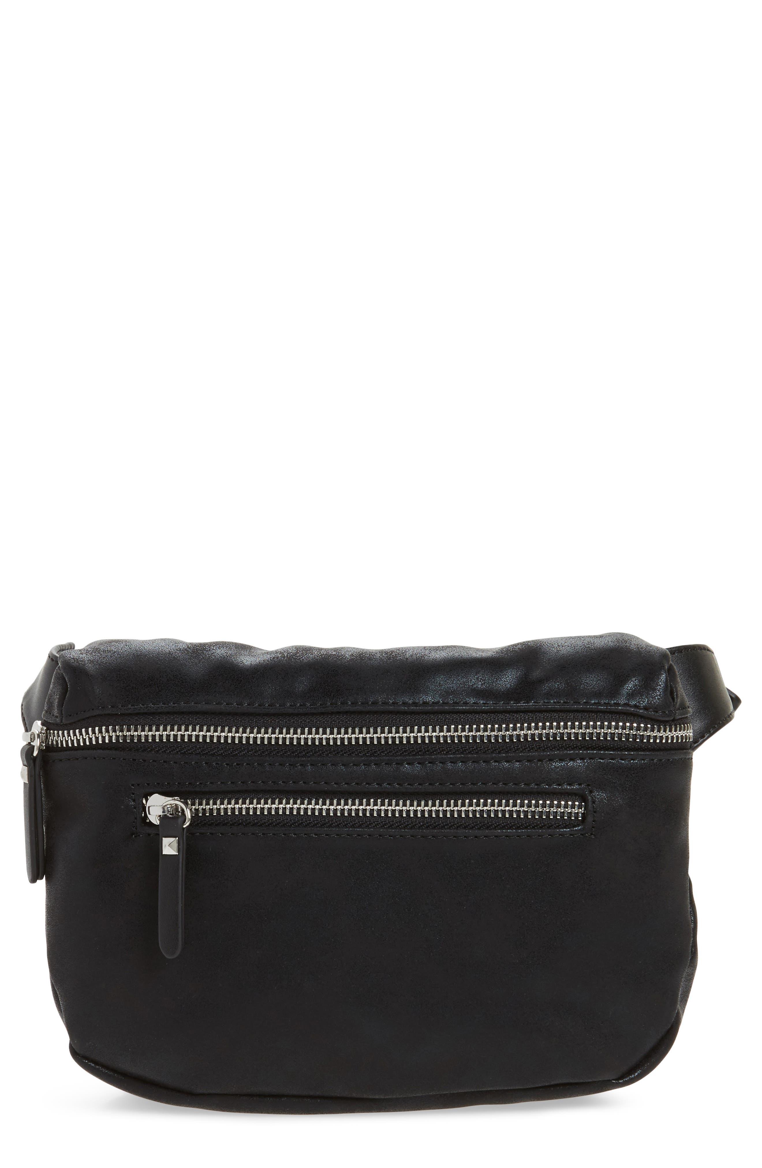 Cara Faux Leather Belt Bag,                         Main,                         color, 001