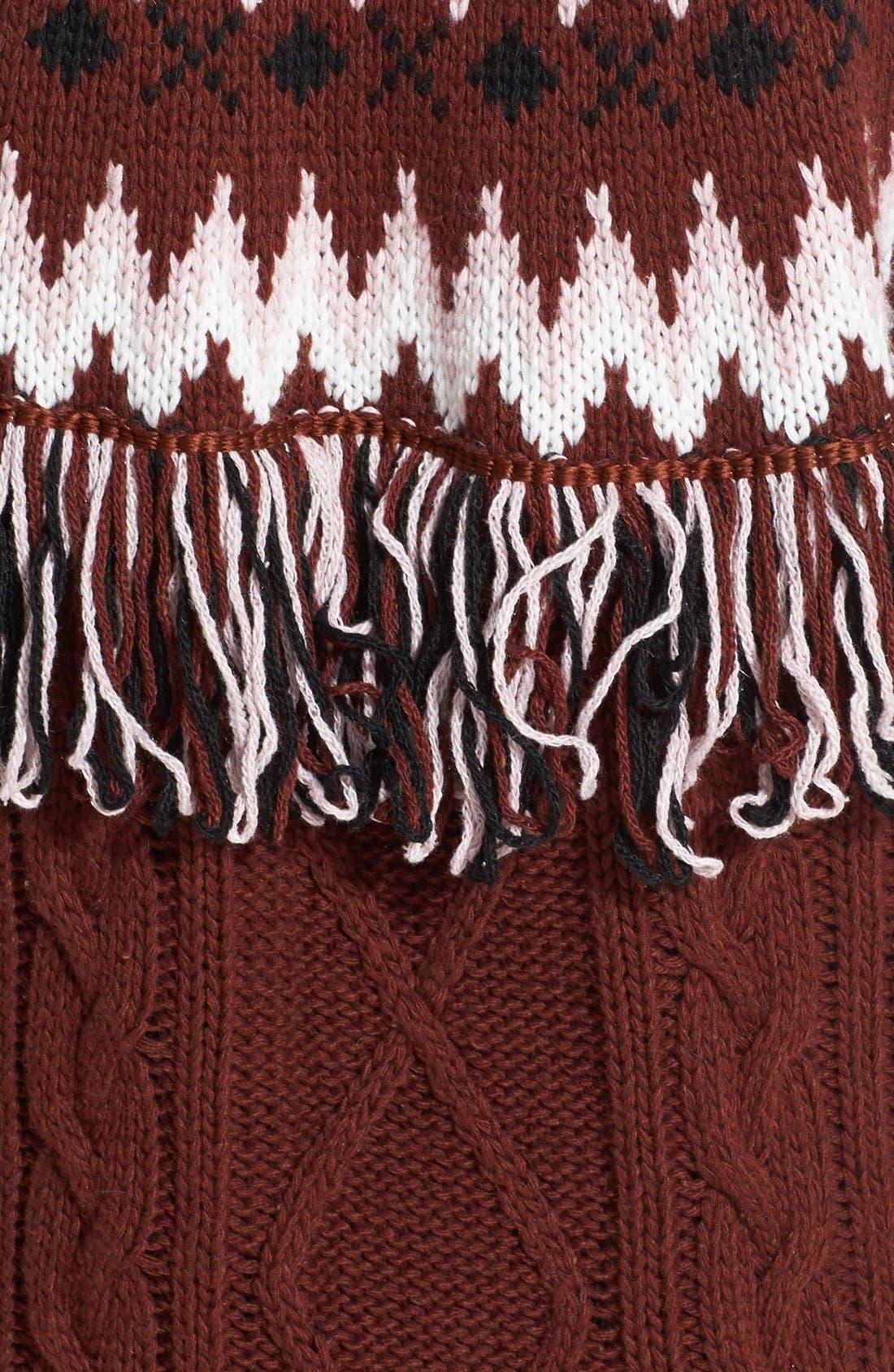 Fringe Tunic Sweater Dress,                             Alternate thumbnail 3, color,                             930