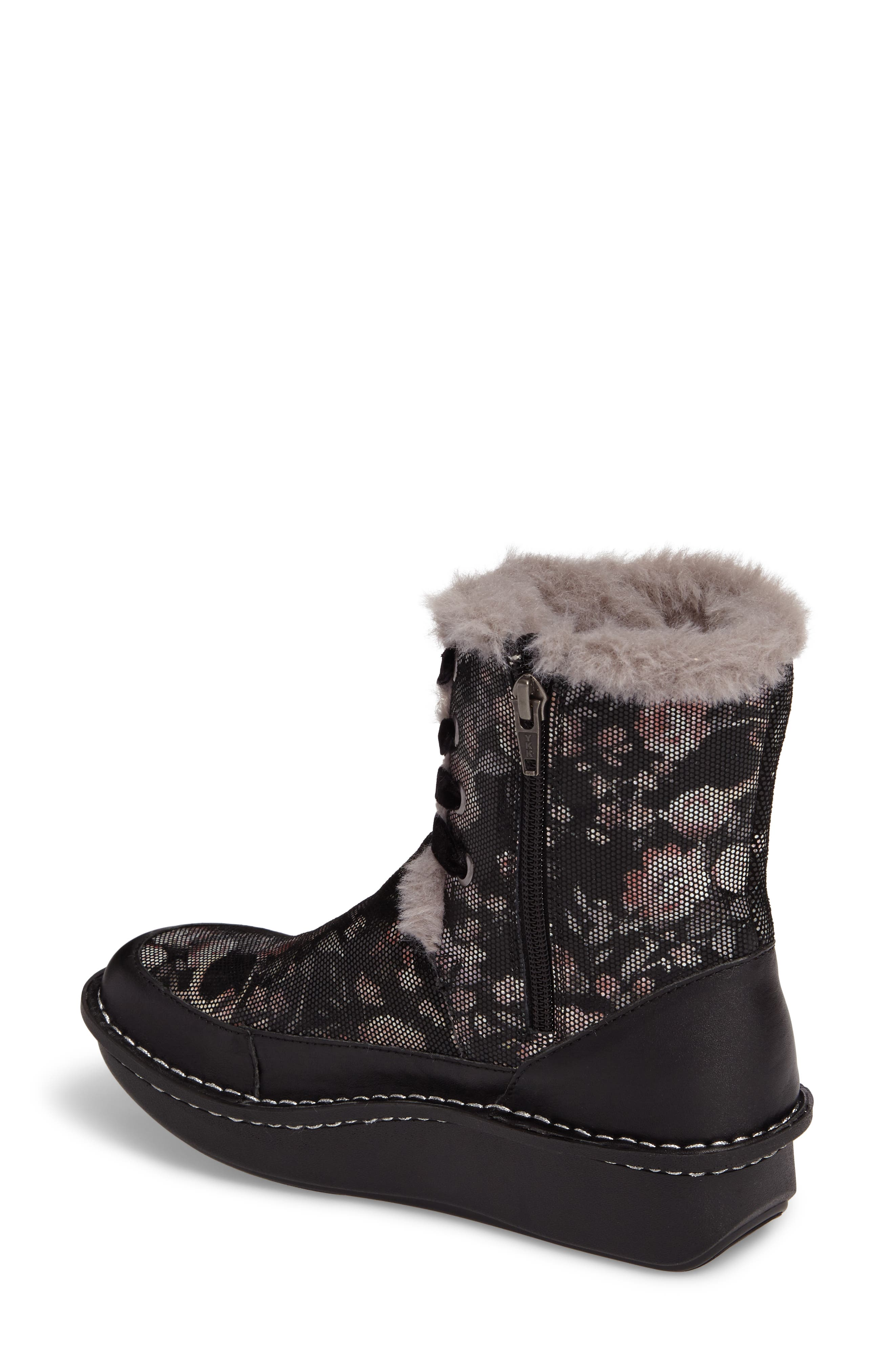 Twisp Lace-Up Boot with Faux Fur Lining,                             Alternate thumbnail 2, color,                             001