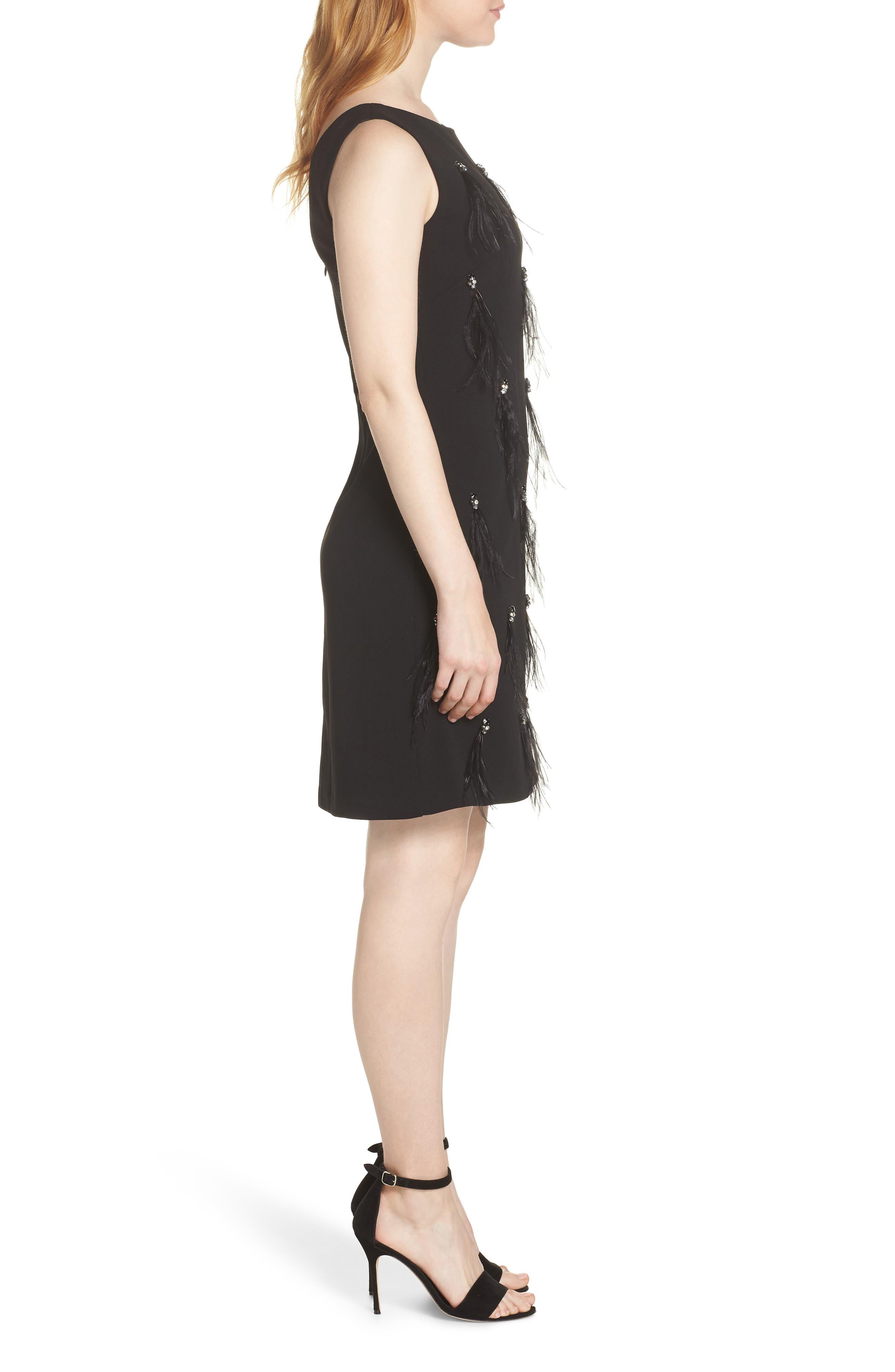 HARPER ROSE,                             Embellished Sheath Dress,                             Alternate thumbnail 3, color,                             BLACK