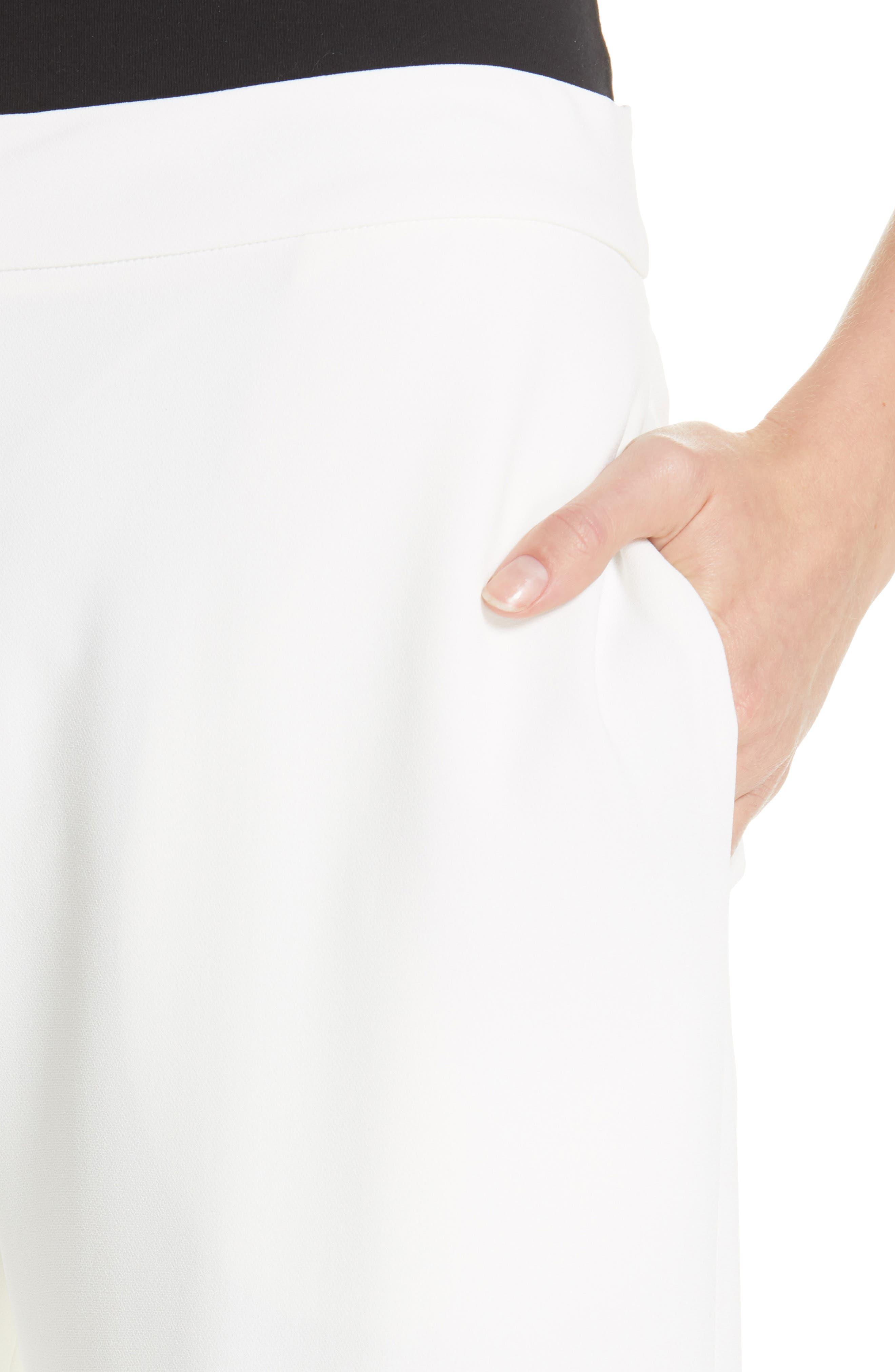 Wide Leg Cuff Pants,                             Alternate thumbnail 4, color,                             IVORY