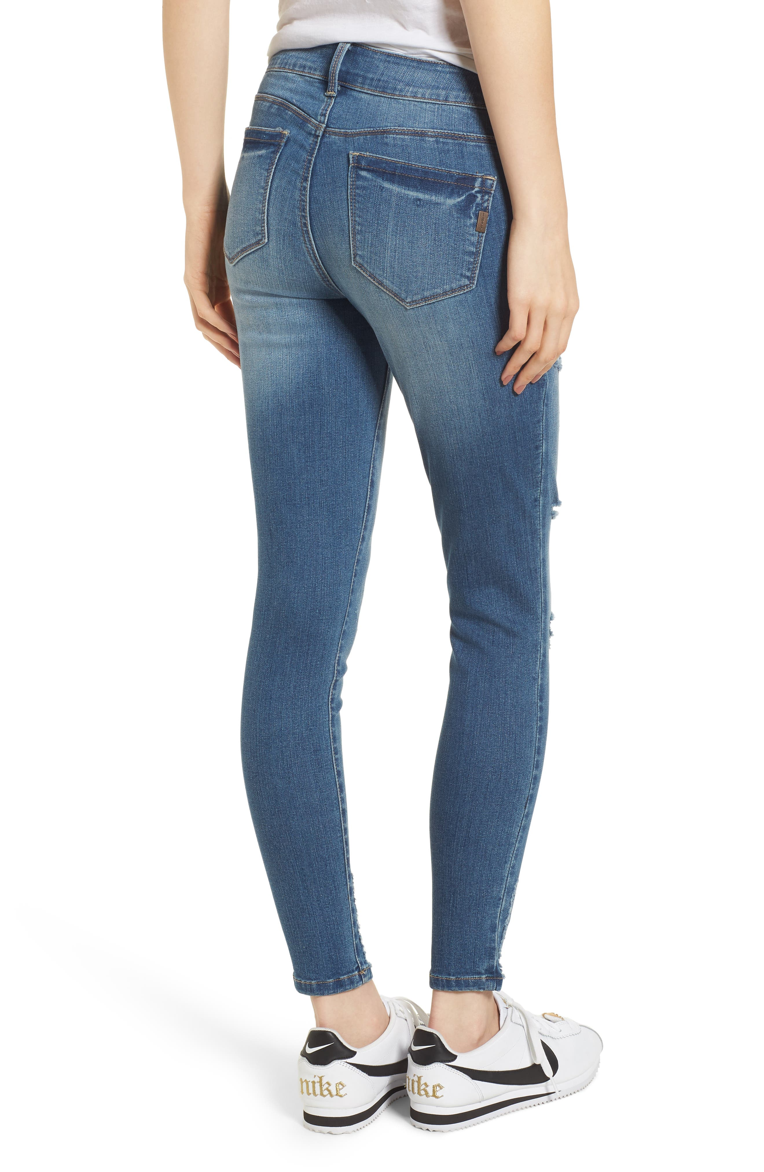 Ripped Skinny Ankle Jeans,                             Alternate thumbnail 2, color,                             423