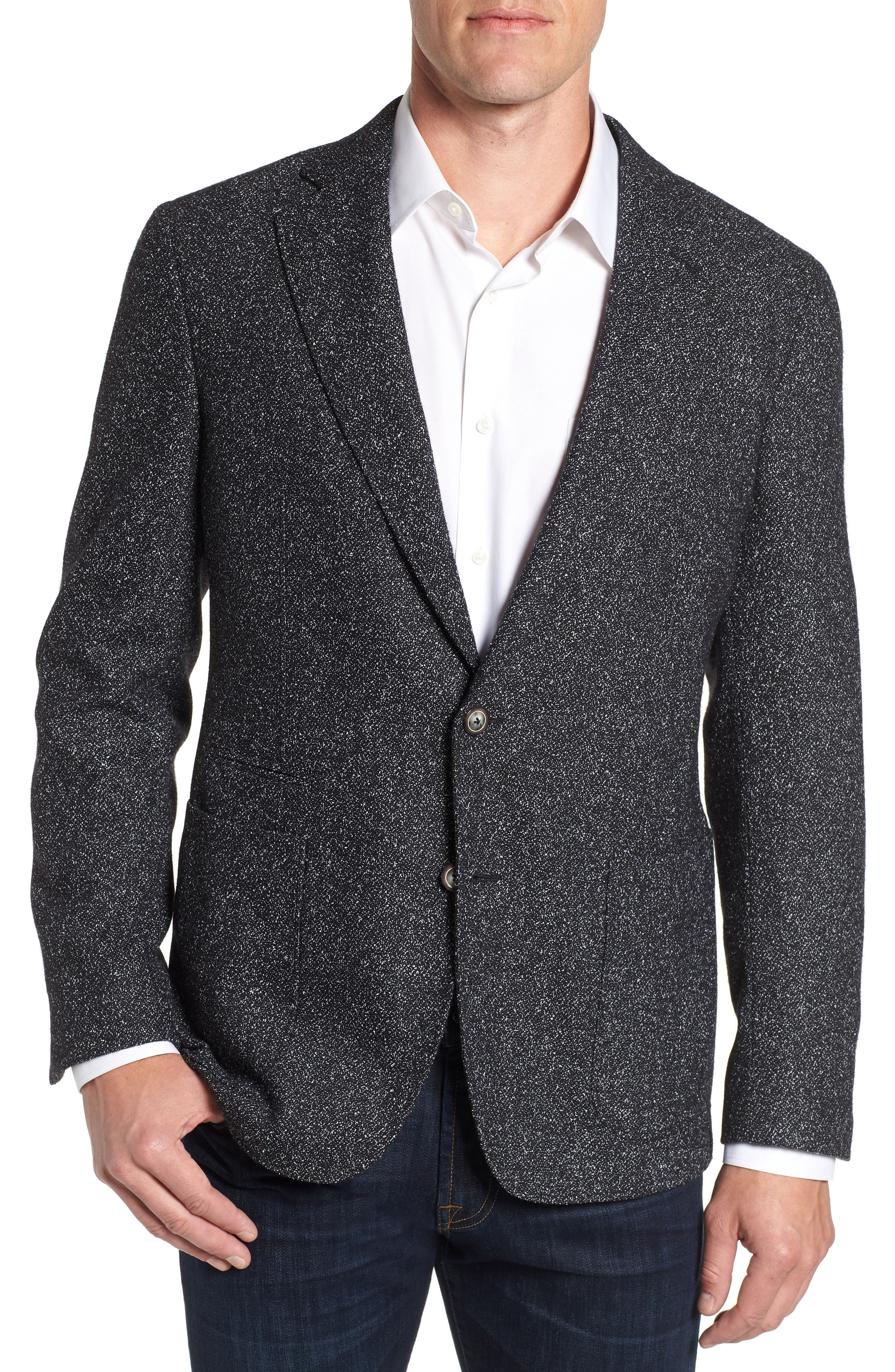 Chester Tailored Fit Sport Coat,                             Main thumbnail 1, color,                             BLACK