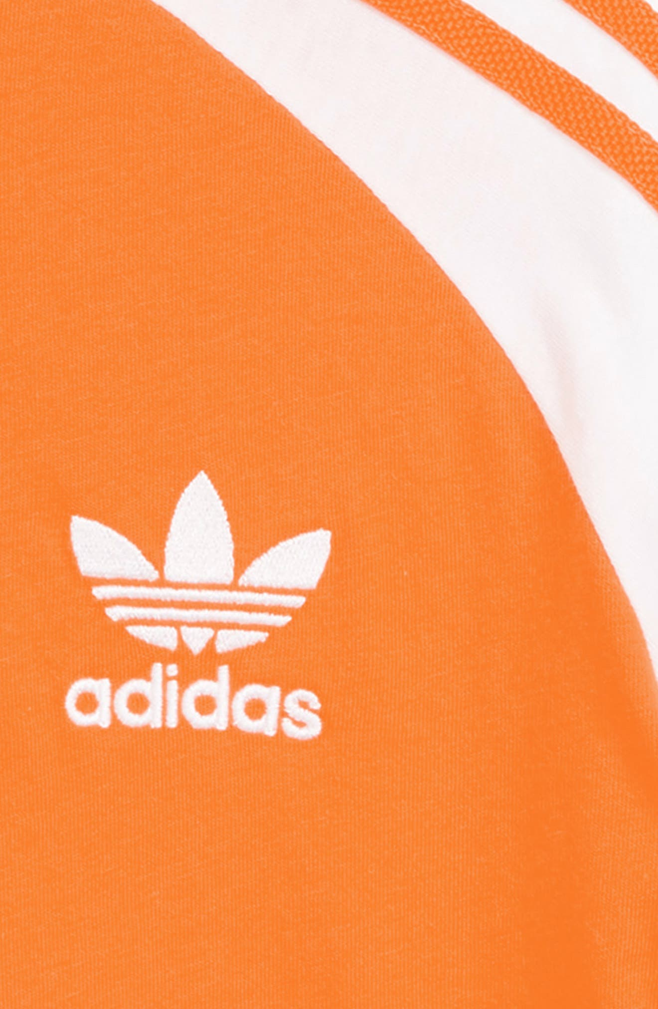 adidas Junior California T-Shirt,                             Alternate thumbnail 2, color,                             ORANGE/ WHITE