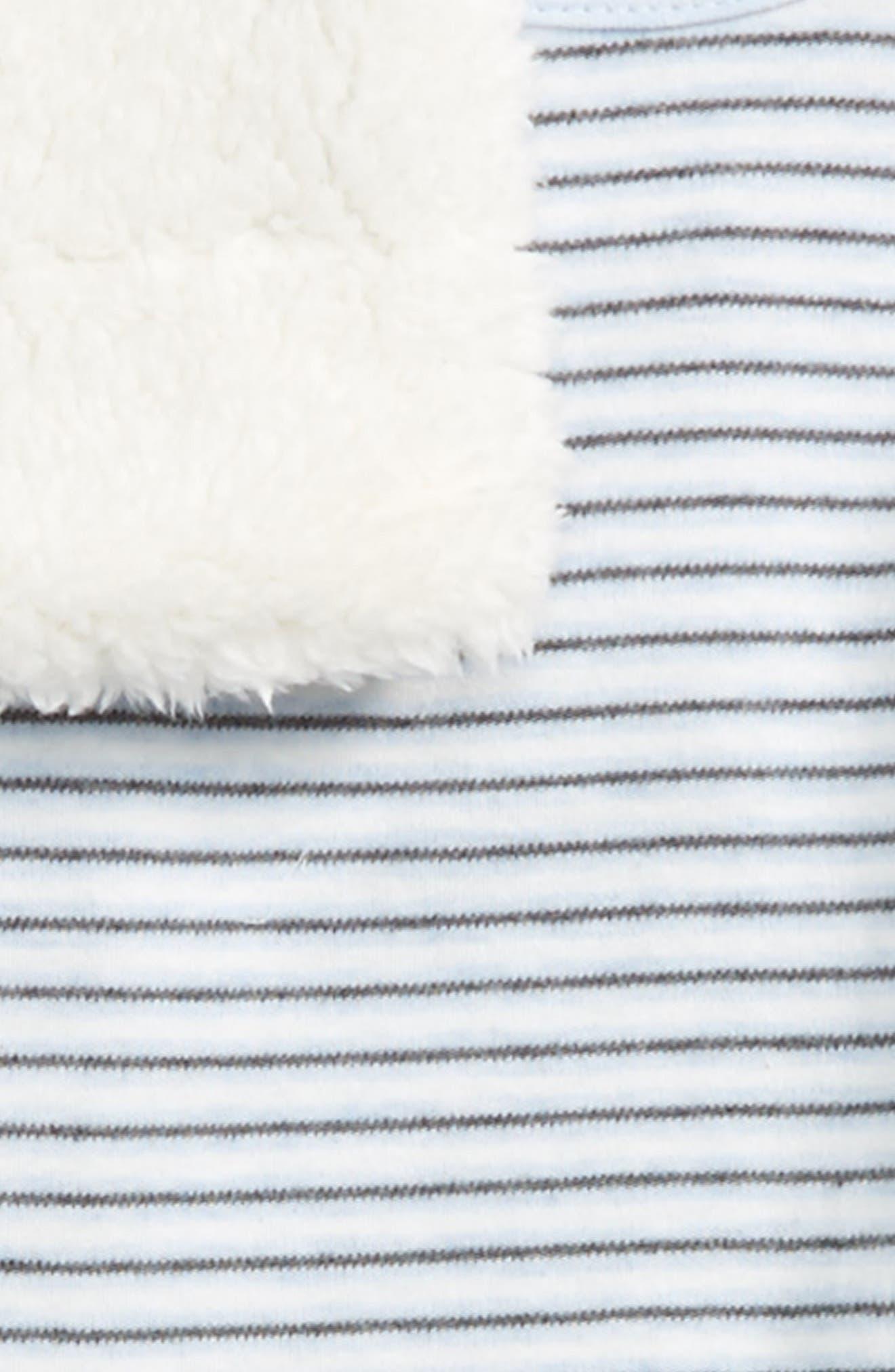 Bear Stripe Bodysuit, Pants, Vest & Beanie Set,                             Alternate thumbnail 2, color,                             461