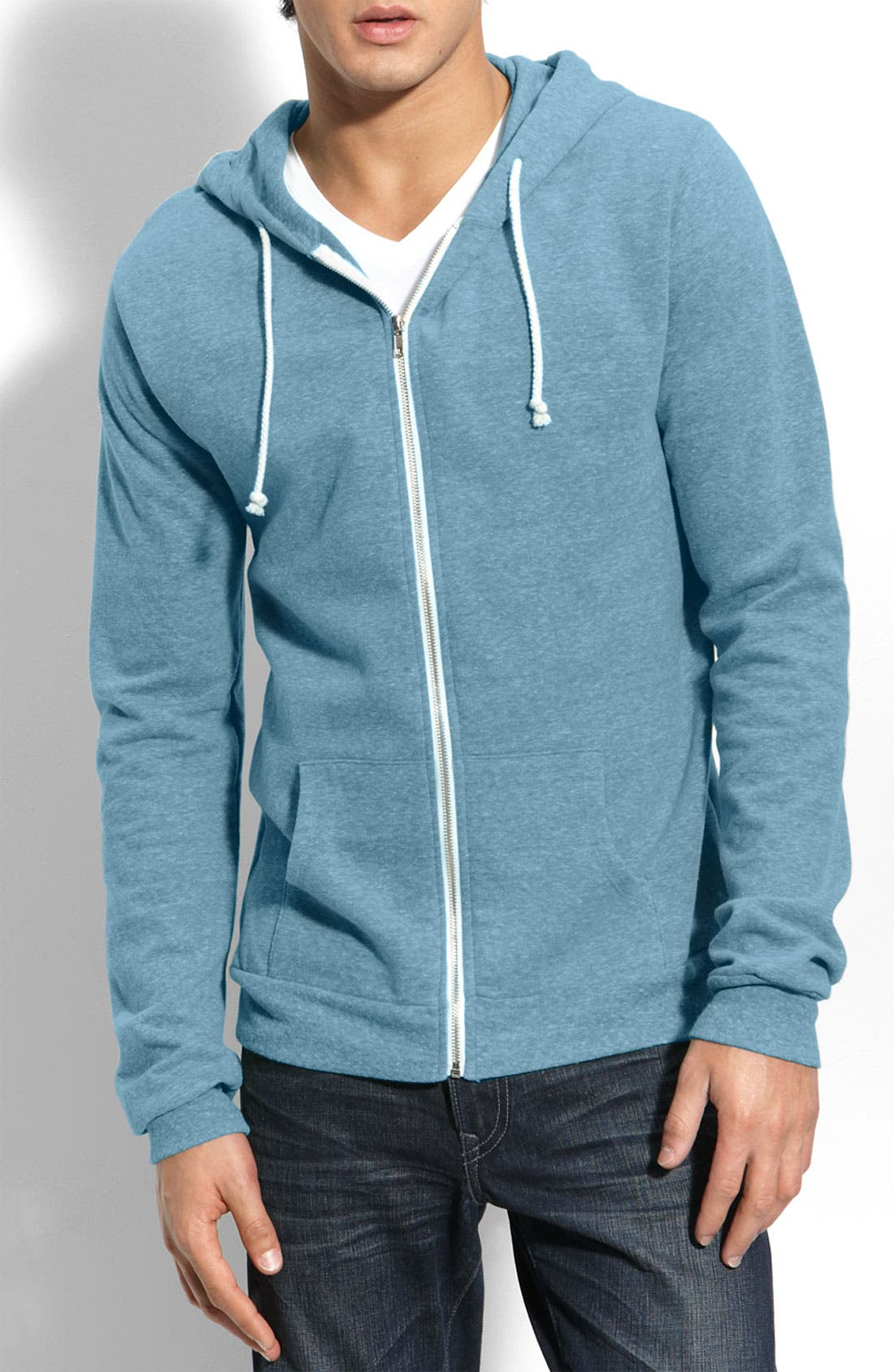 Threads for Thought Trim Fit Heathered Hoodie,                             Main thumbnail 11, color,