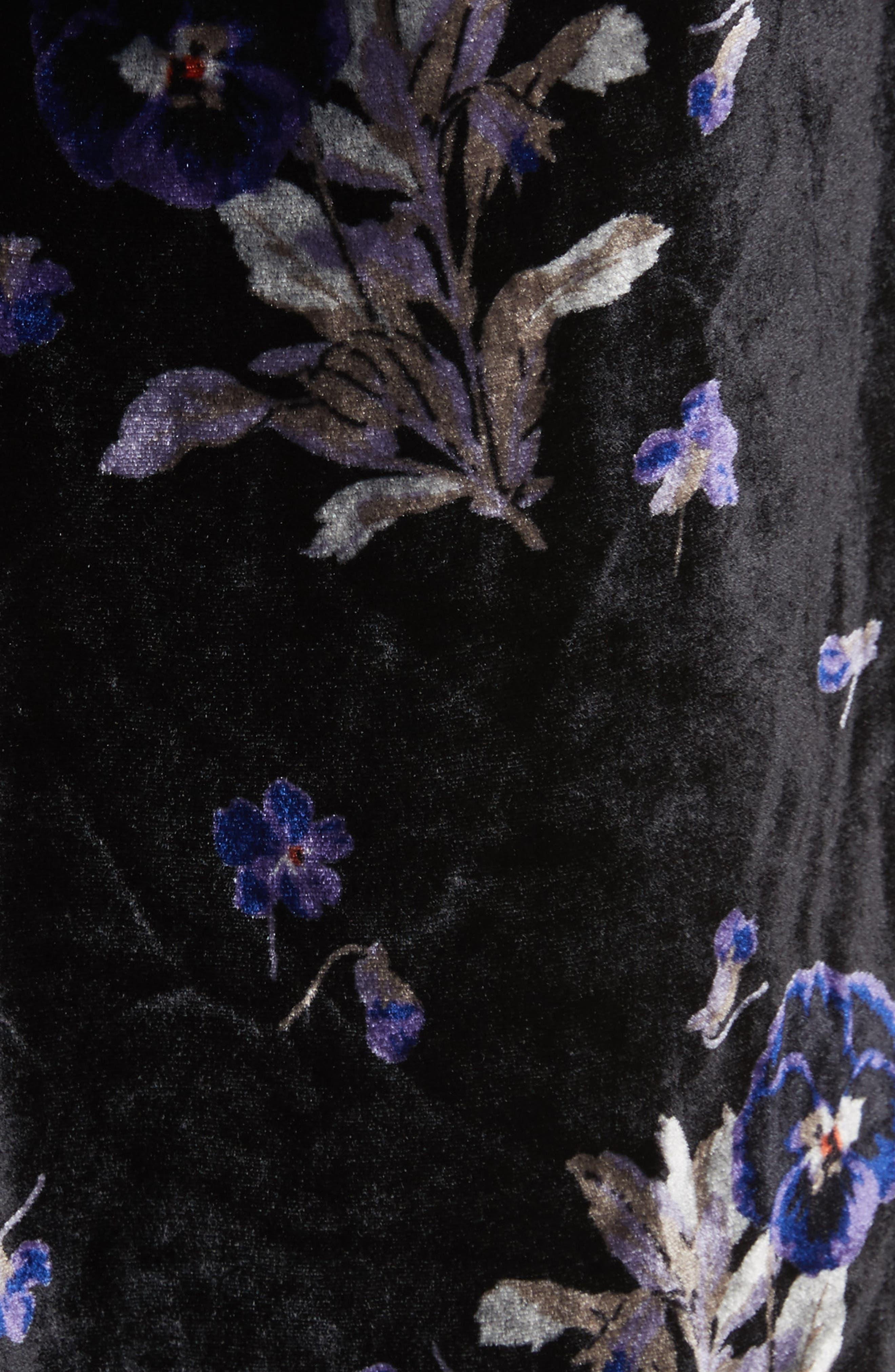 Violet Velvet Sheath Dress,                             Alternate thumbnail 5, color,                             014