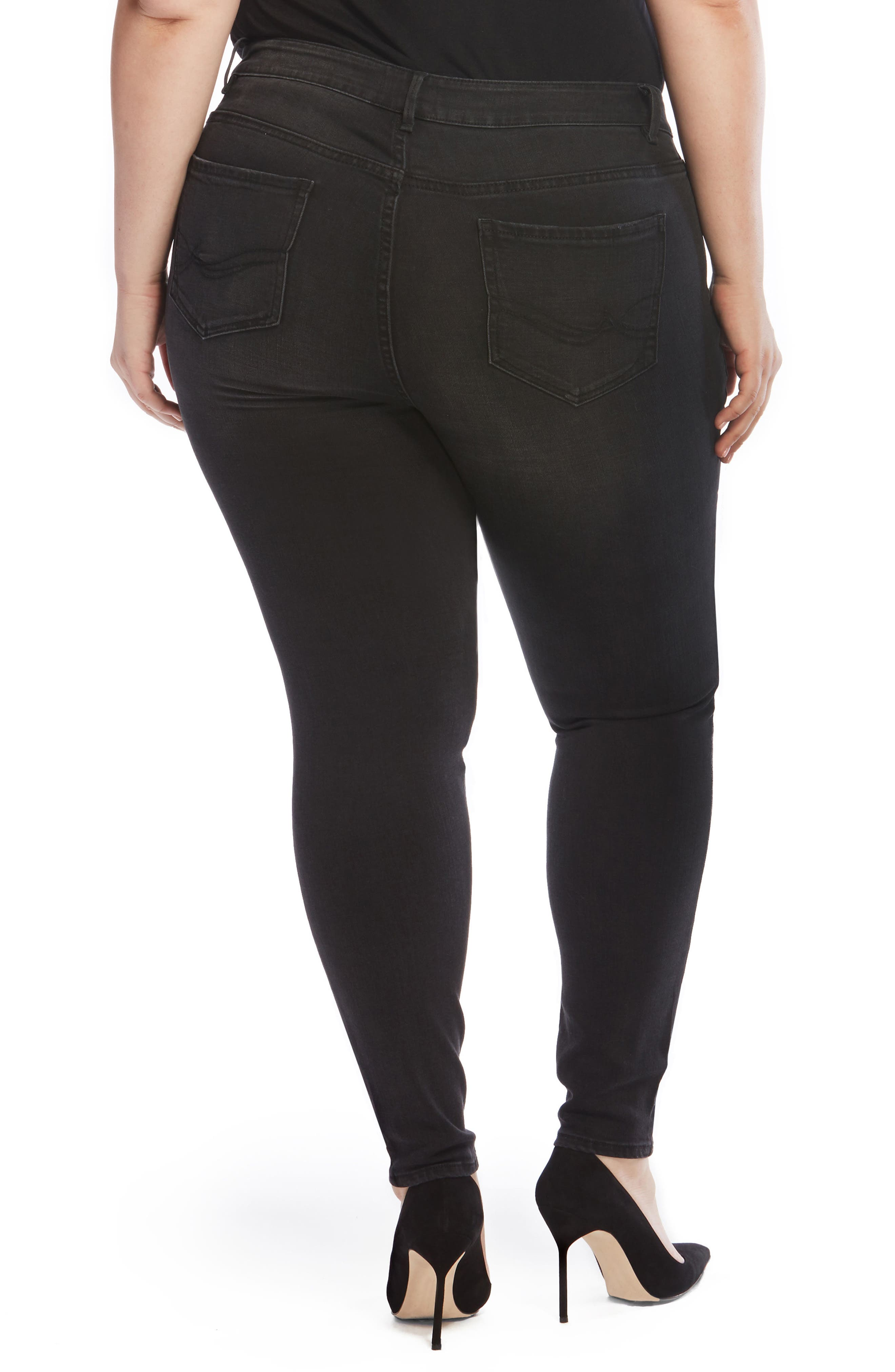 The Pin Up Super Skinny Jeans,                             Alternate thumbnail 2, color,                             002