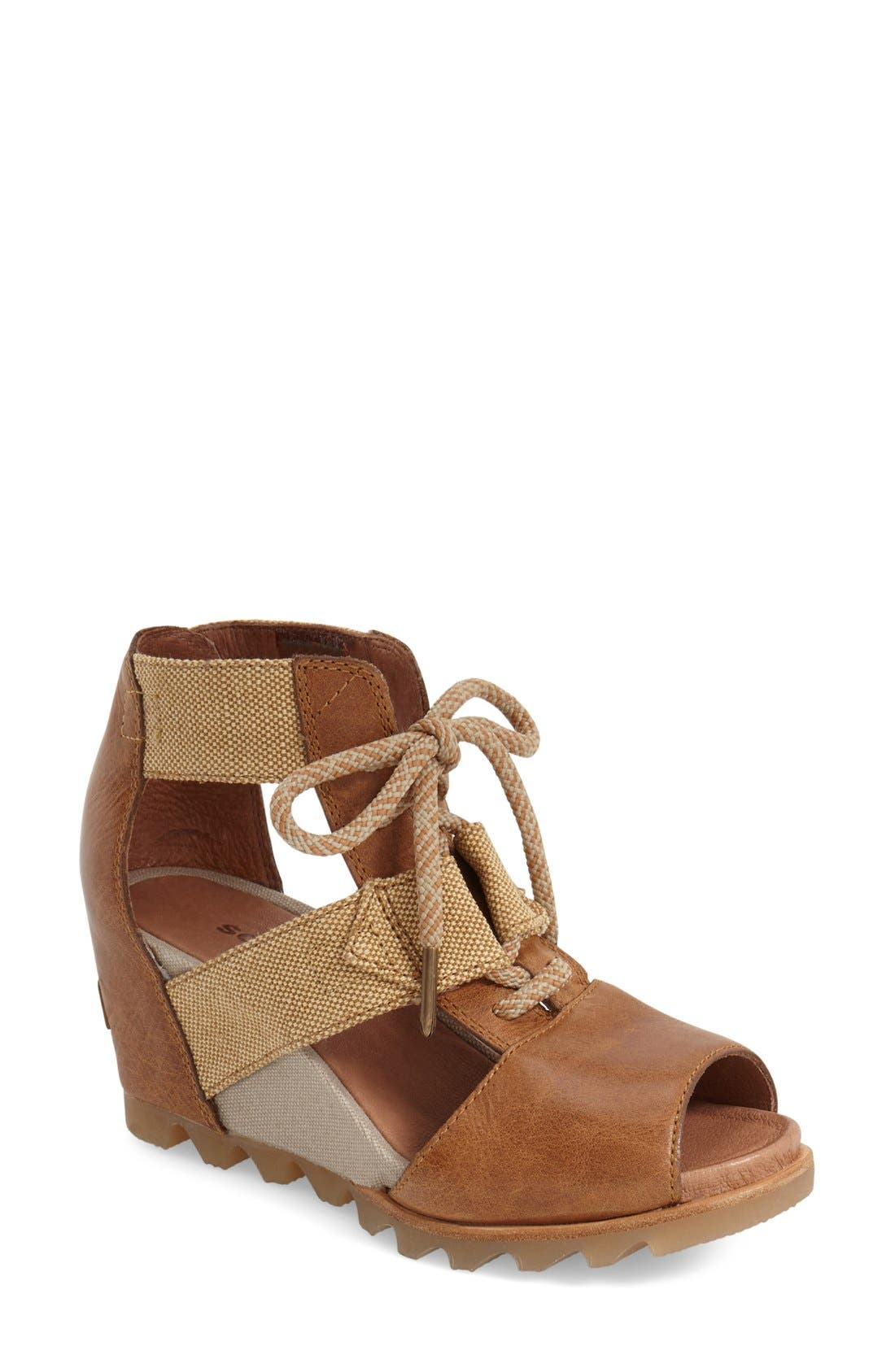 'Joanie' Cage Sandal,                             Main thumbnail 7, color,