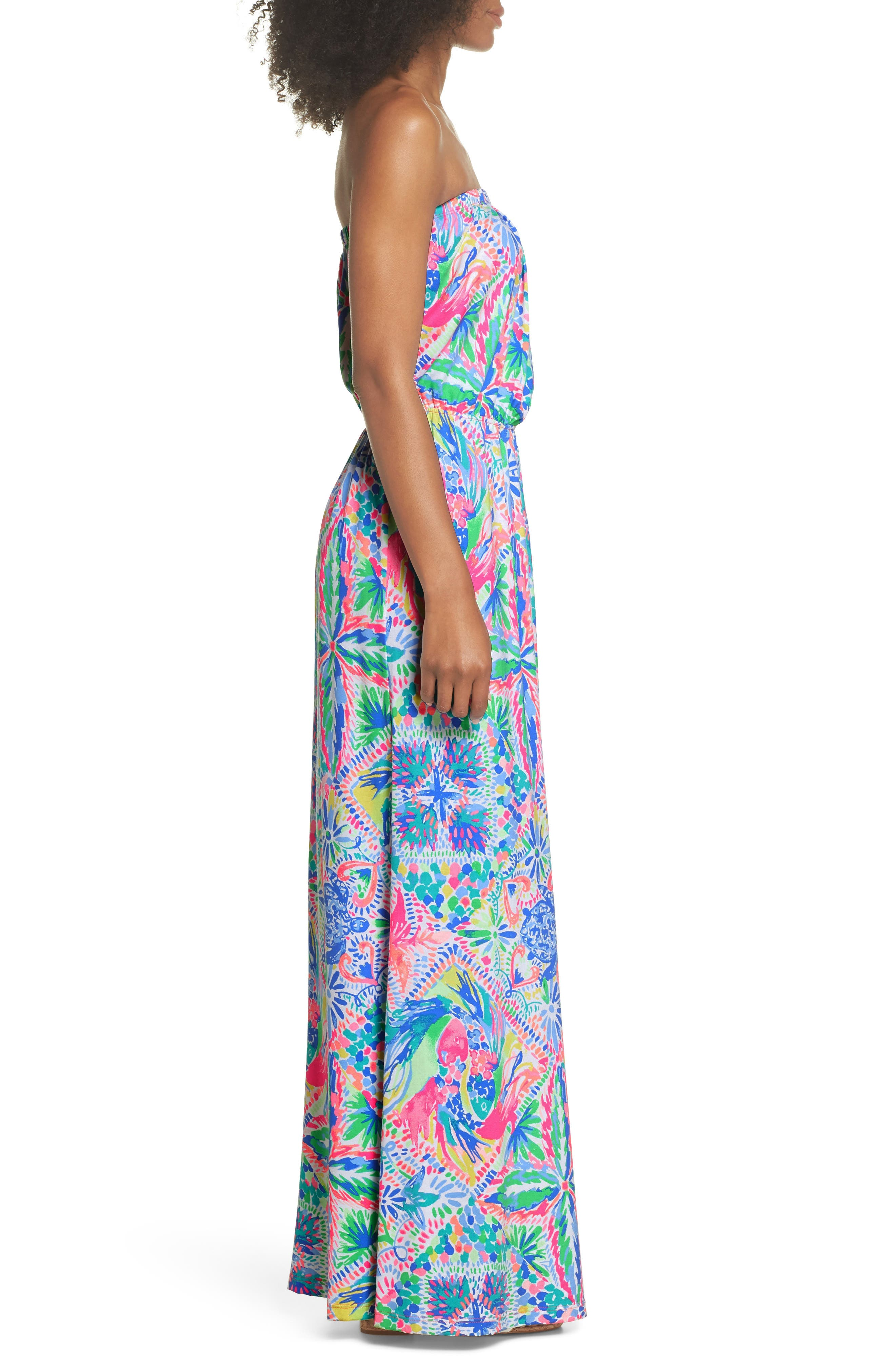 Marlisa Maxi Dress,                             Alternate thumbnail 3, color,                             MULTI DANCING ON THE DECK