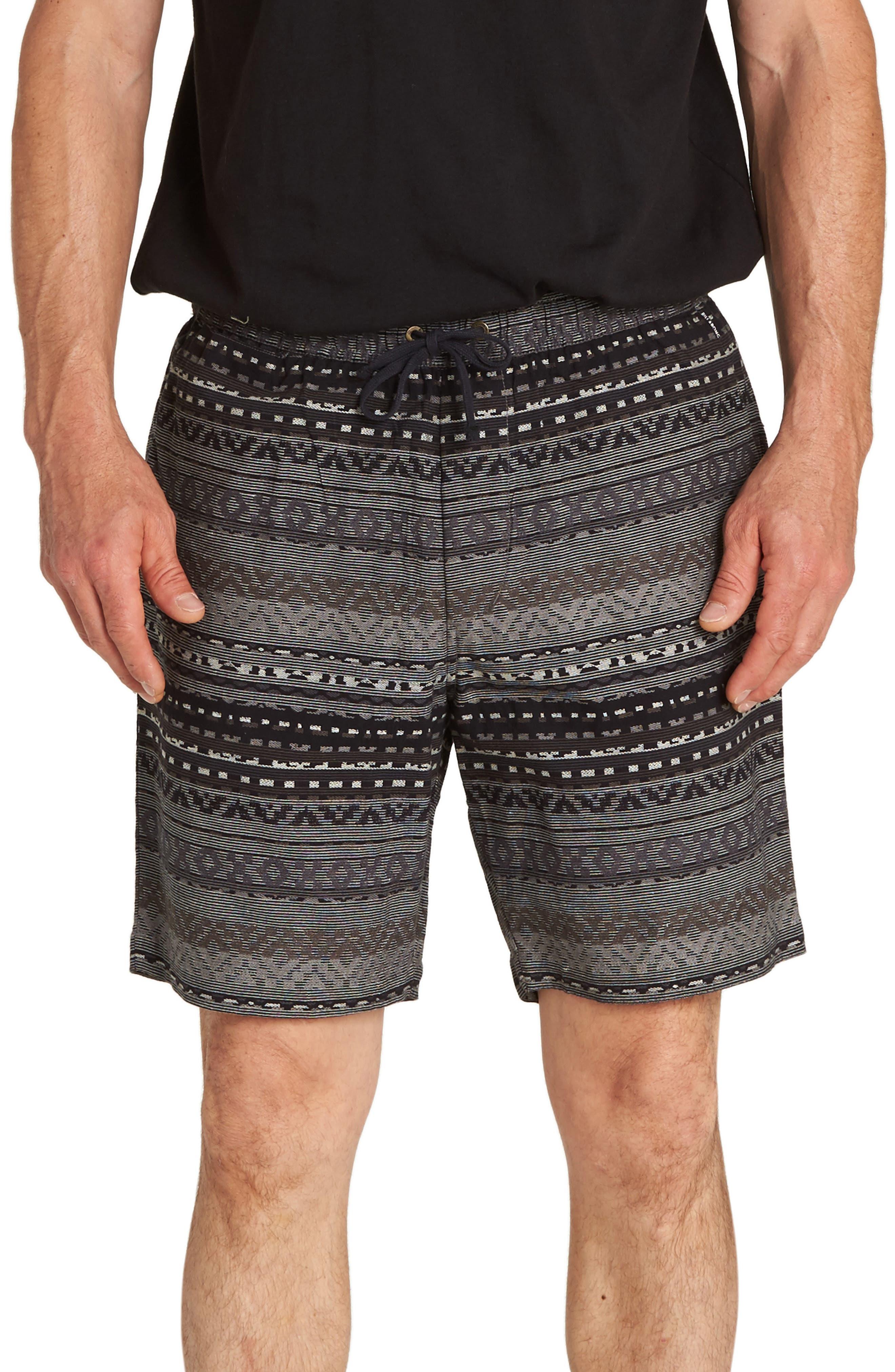 Larry Layback Jacquard Shorts,                             Main thumbnail 1, color,                             BLACK