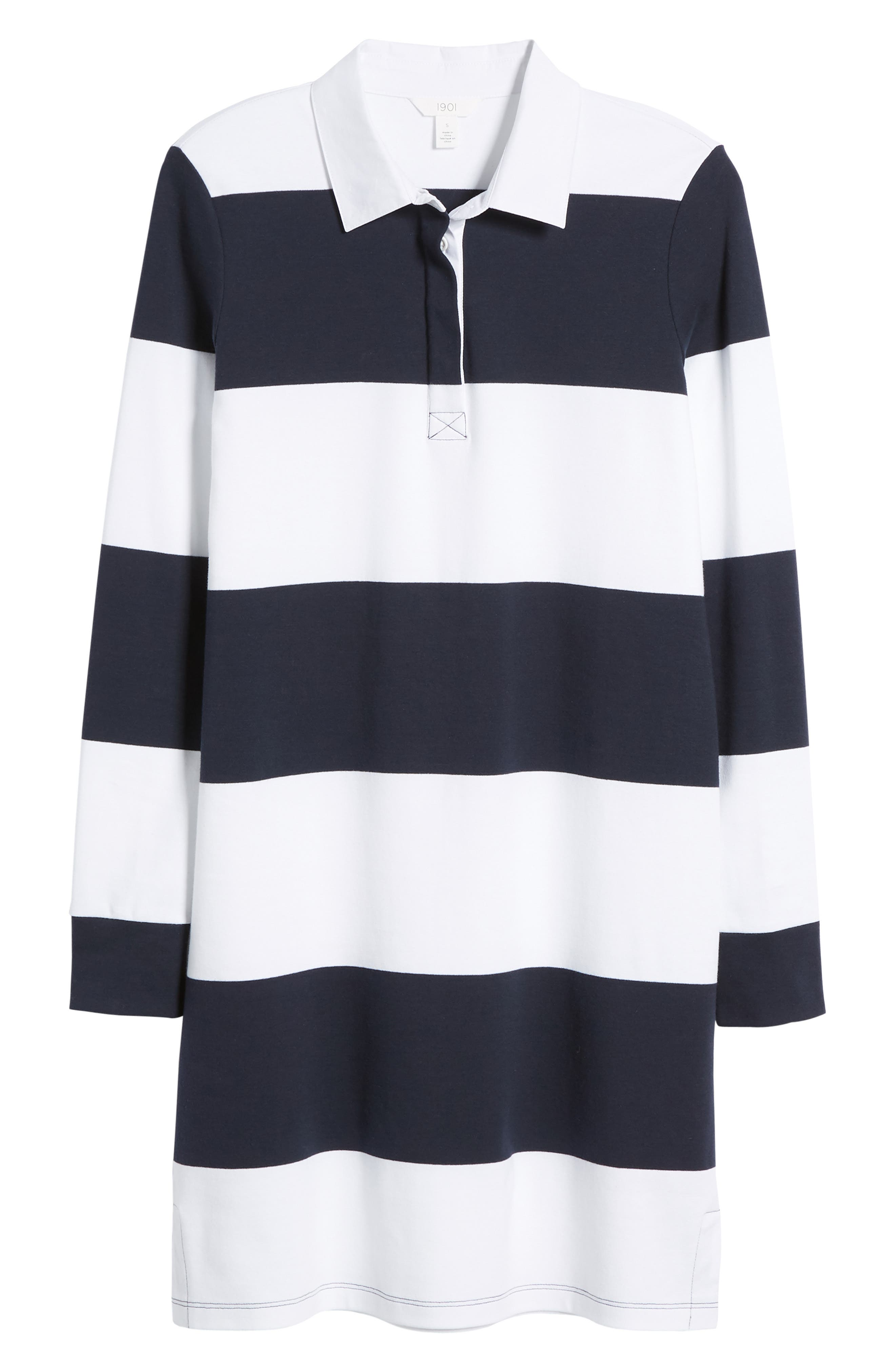 Cotton Rugby Dress,                             Alternate thumbnail 6, color,                             410