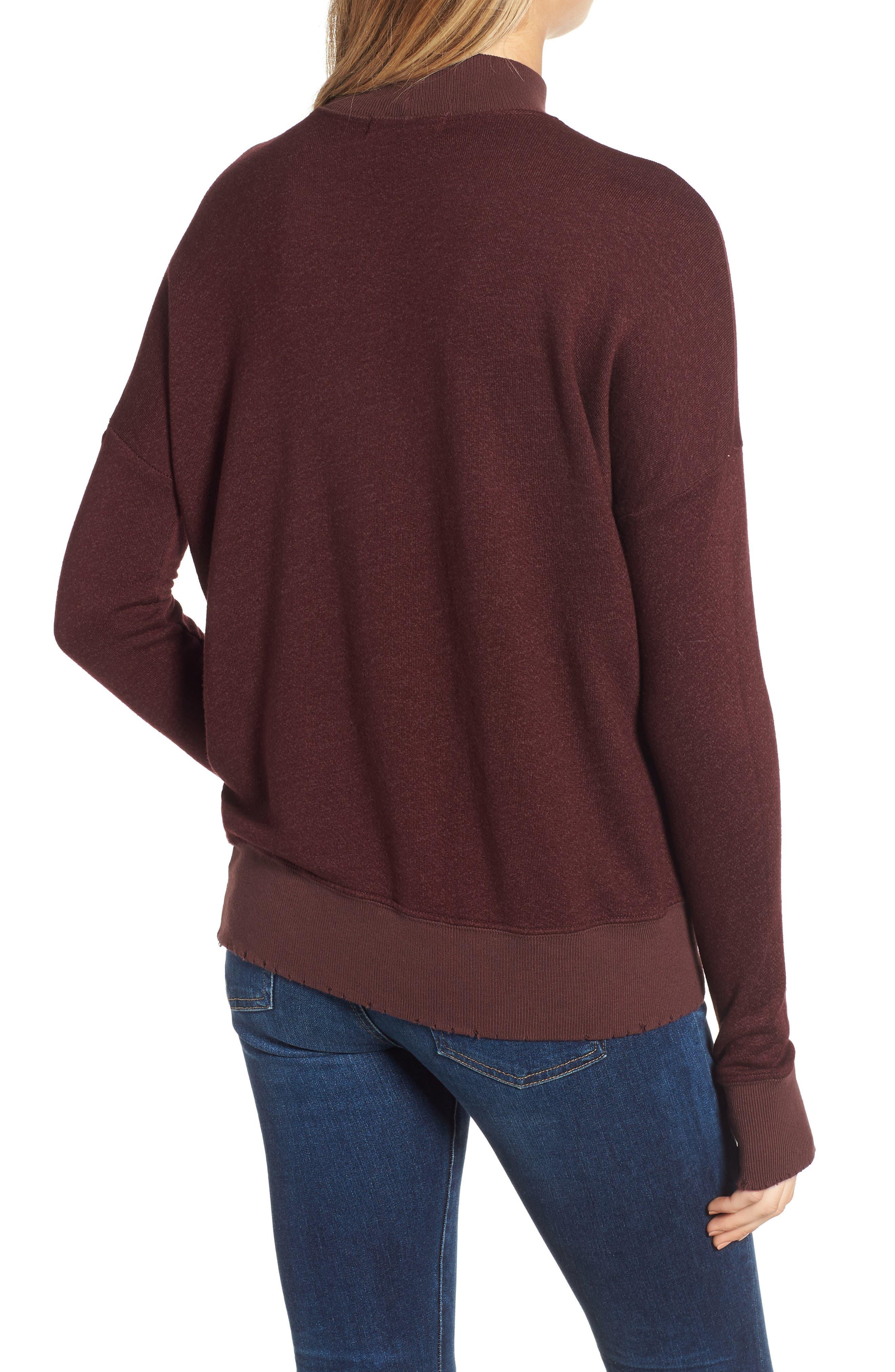 Sedro Arm Cutout Sweatshirt,                             Alternate thumbnail 2, color,                             WINETASTING