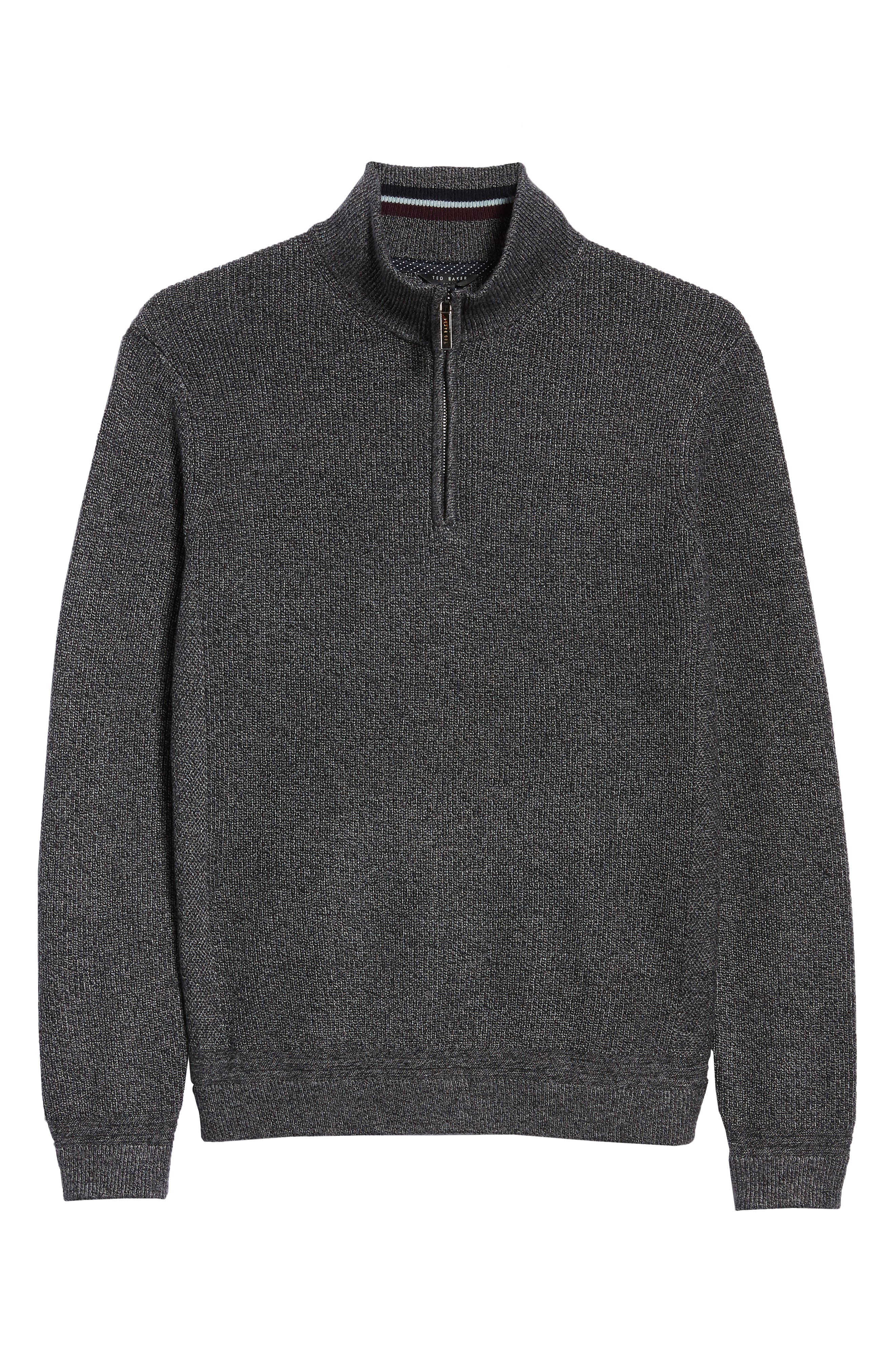 Lohas Slim Fit Funnel Neck Sweater,                             Alternate thumbnail 6, color,                             CHARCOAL