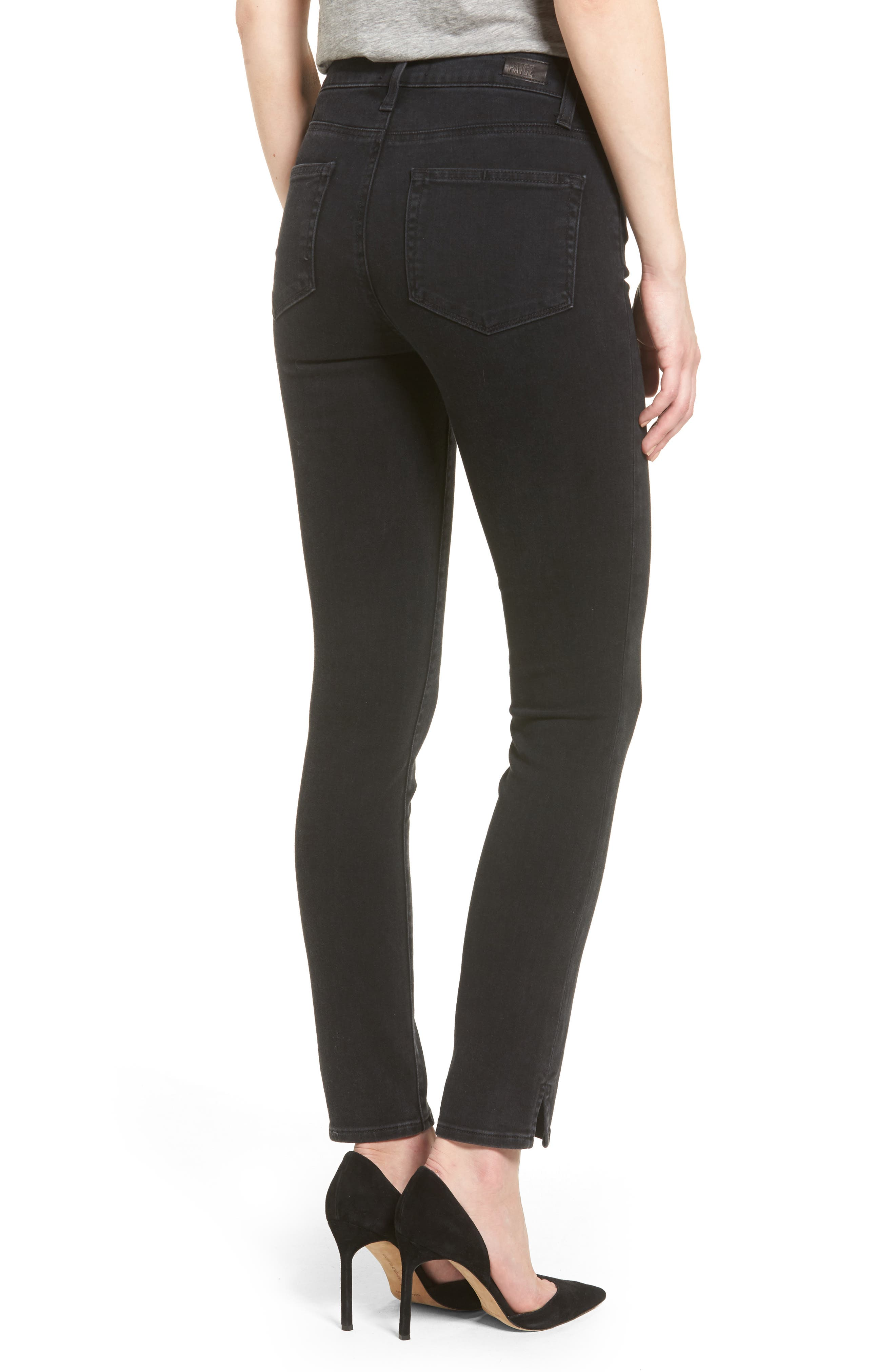 Hoxton Button High Waist Ankle Skinny Jeans,                             Alternate thumbnail 2, color,                             400