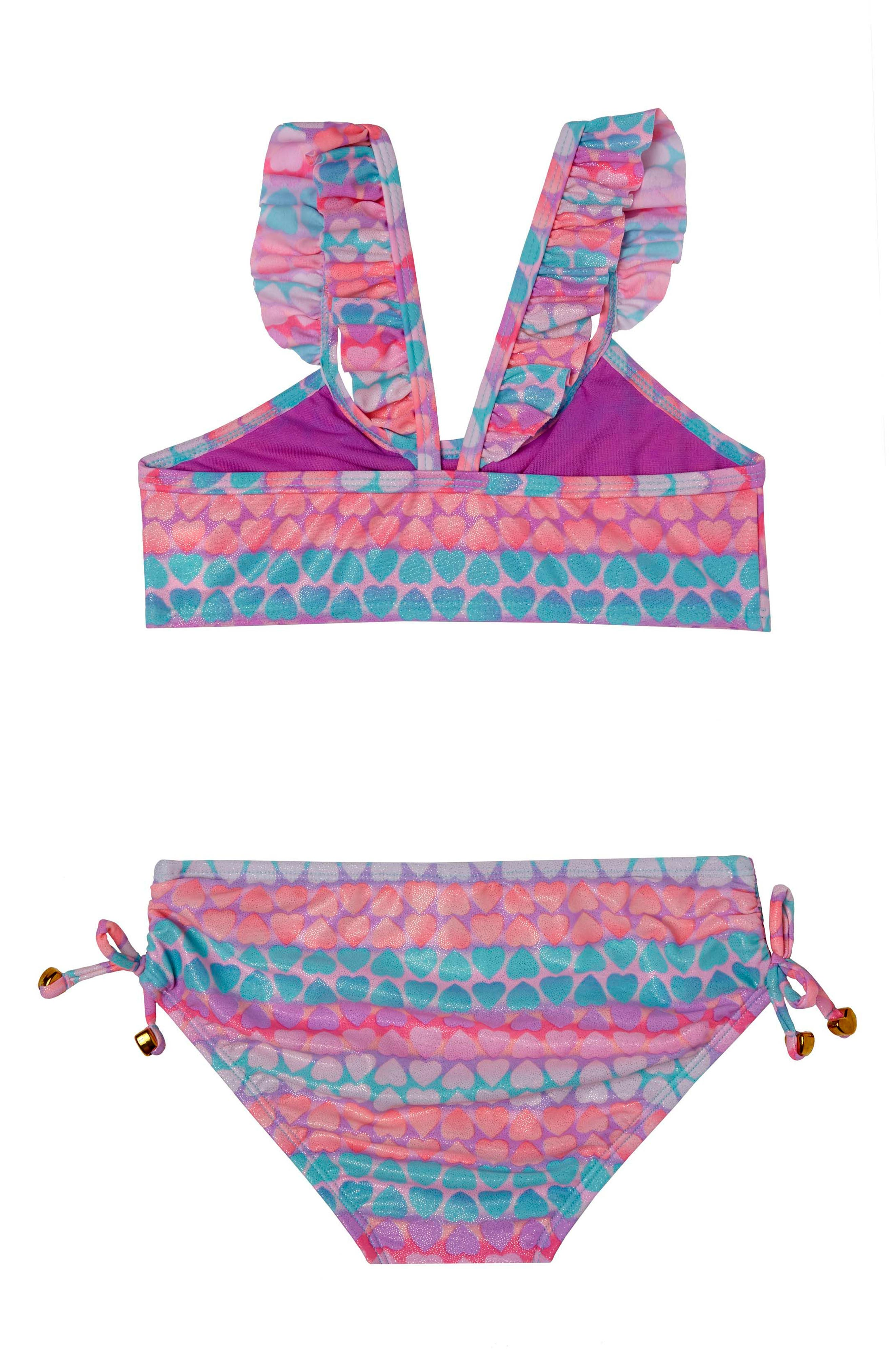 Hearts Galore Two-Piece Swimsuit,                             Main thumbnail 1, color,                             508