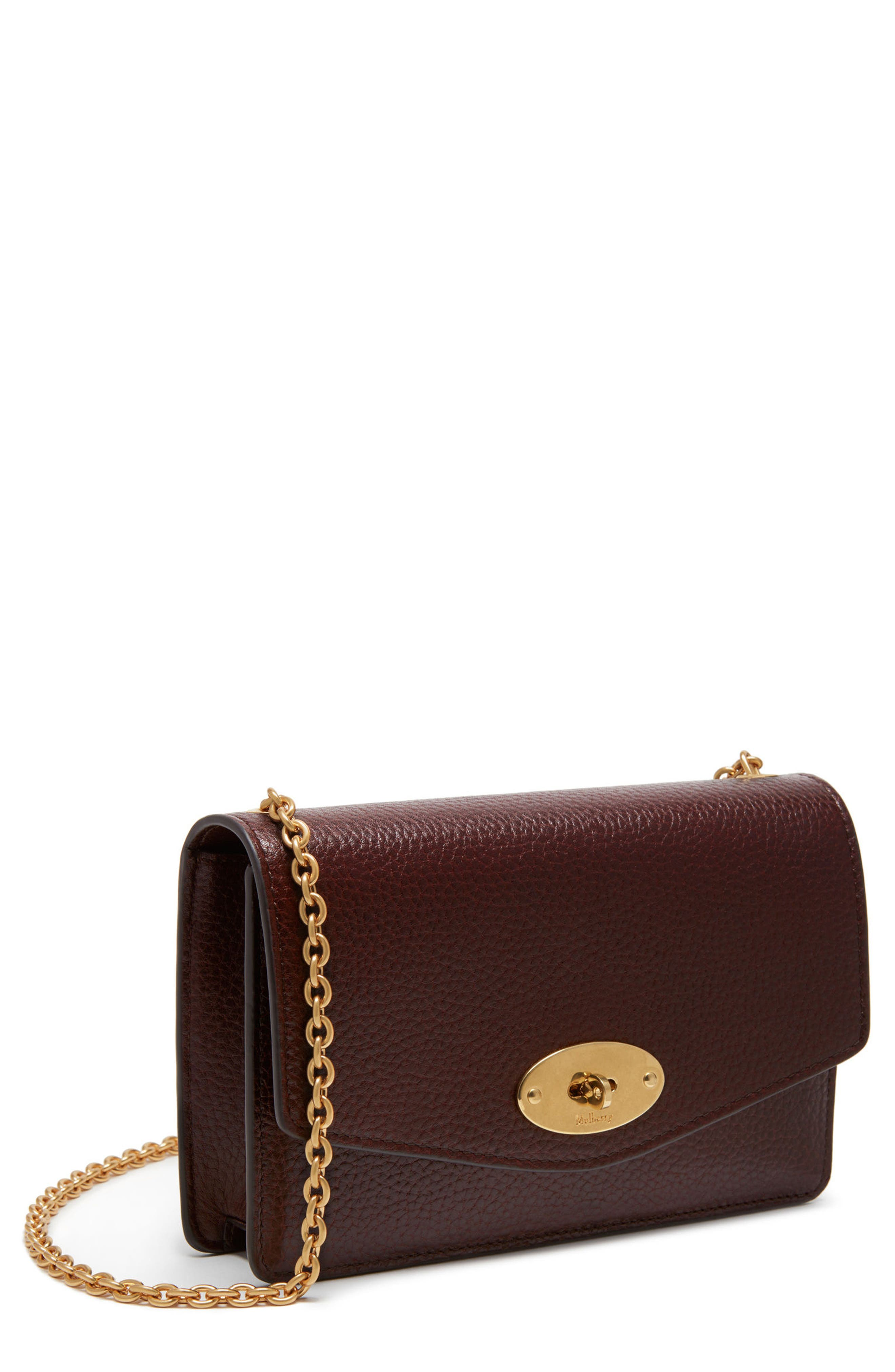 Small Darley Leather Clutch,                             Main thumbnail 1, color,