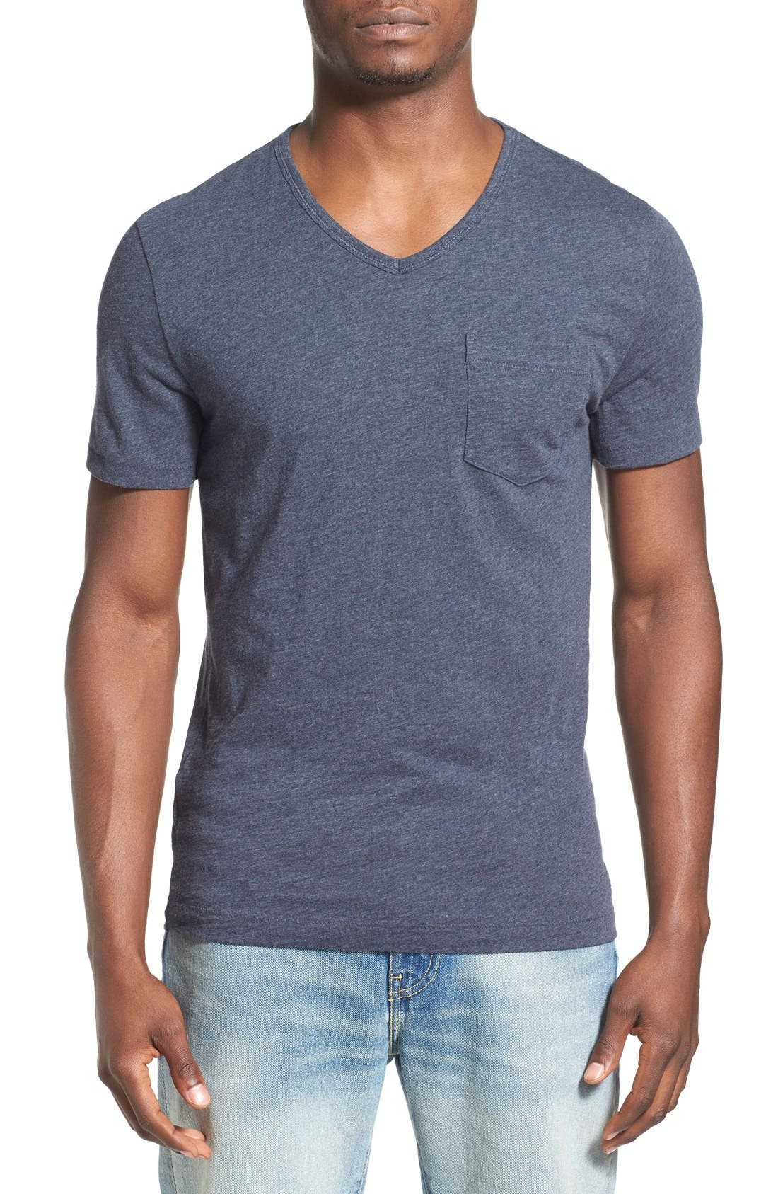 'Bing' V-Neck Pocket T-Shirt,                             Main thumbnail 3, color,