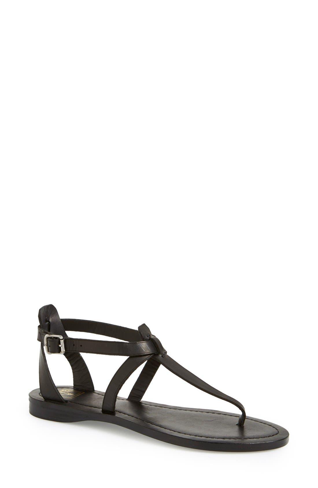 'Rachel' T-Strap Sandal,                         Main,                         color, 001