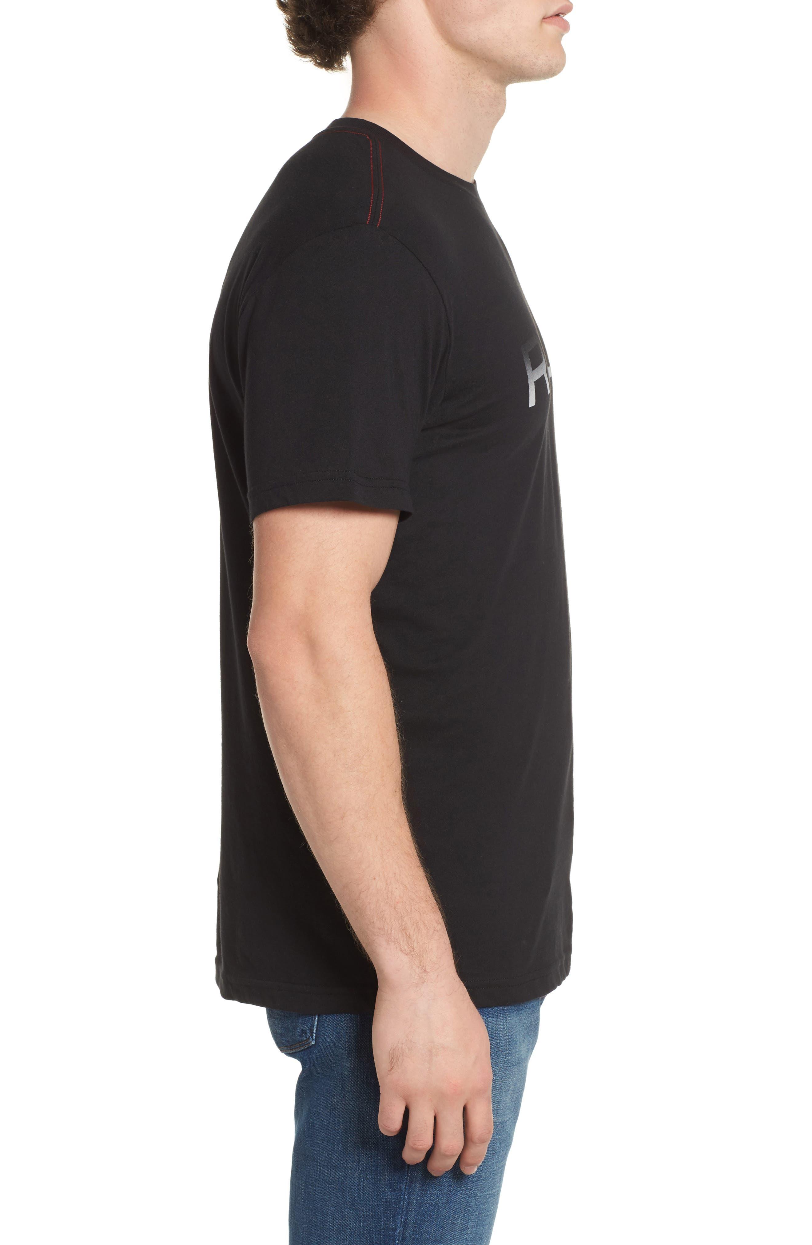 Big RVCA Gradient Logo T-Shirt,                             Alternate thumbnail 5, color,