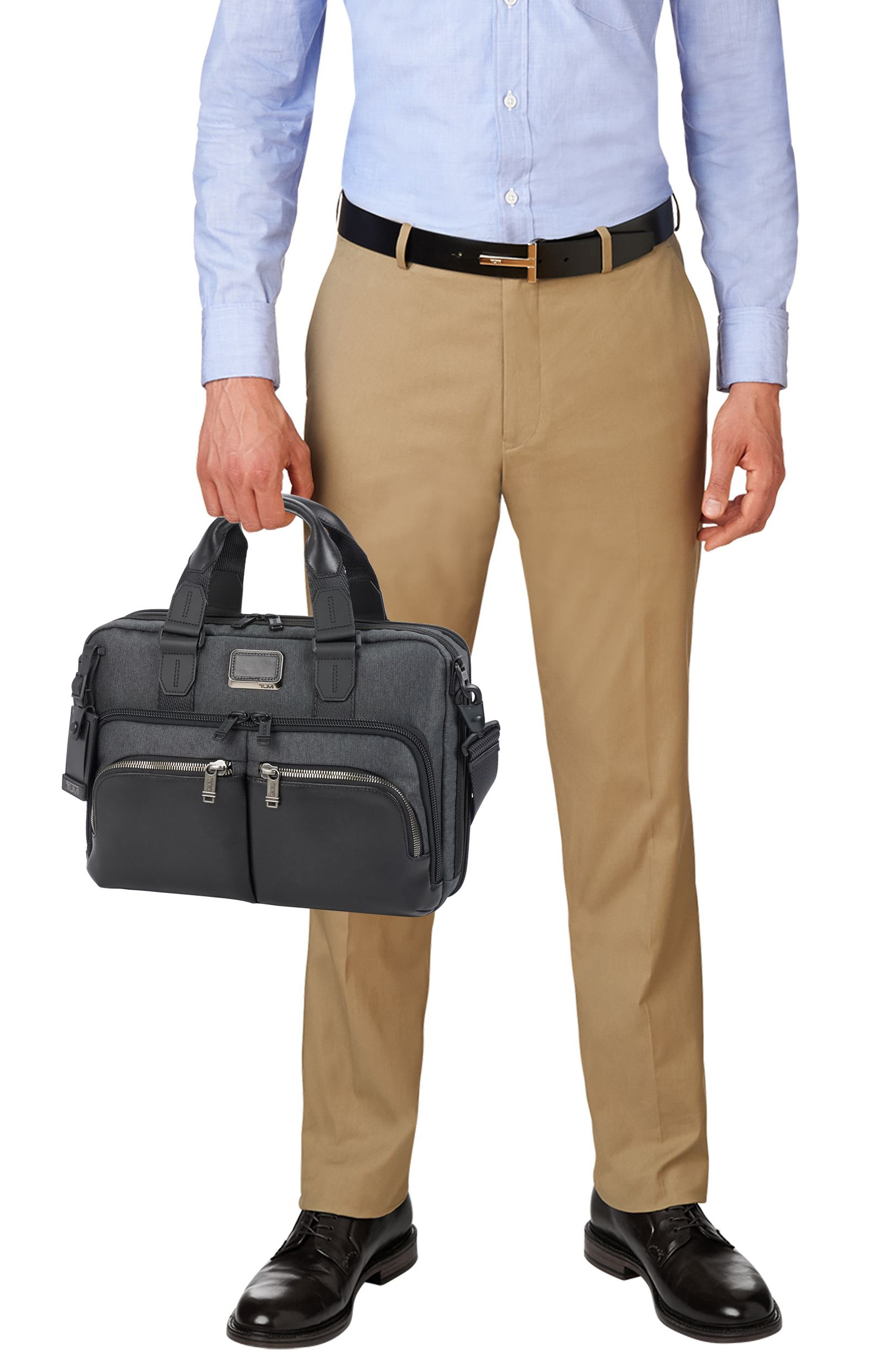 Albany - Slim Commuter Briefcase,                             Alternate thumbnail 6, color,                             ANTHRACITE