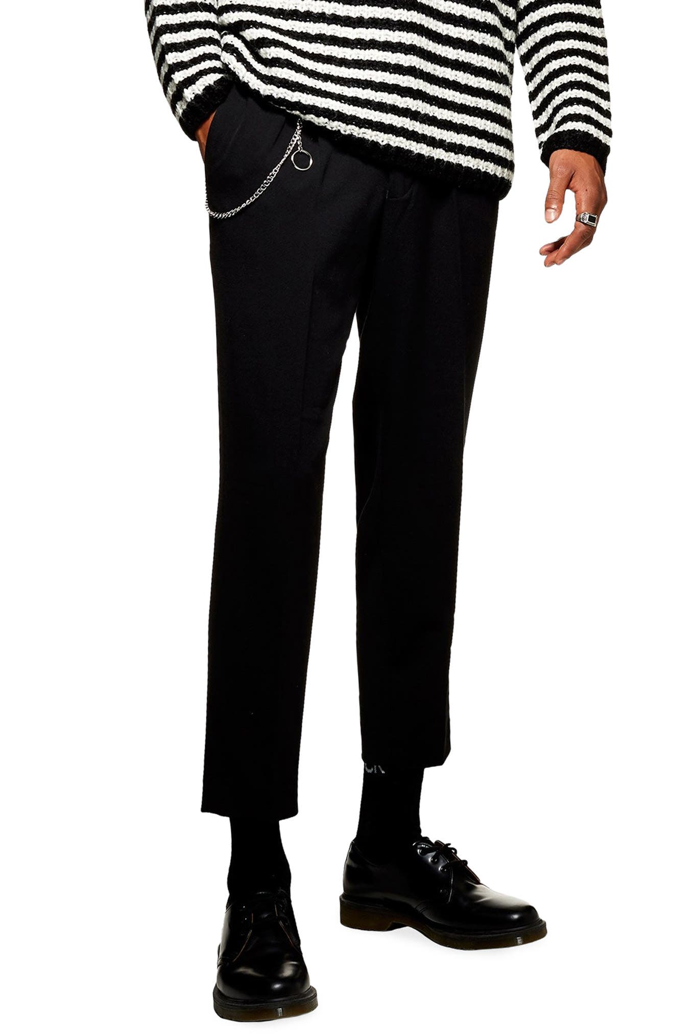 Tapered Trousers,                         Main,                         color, BLACK