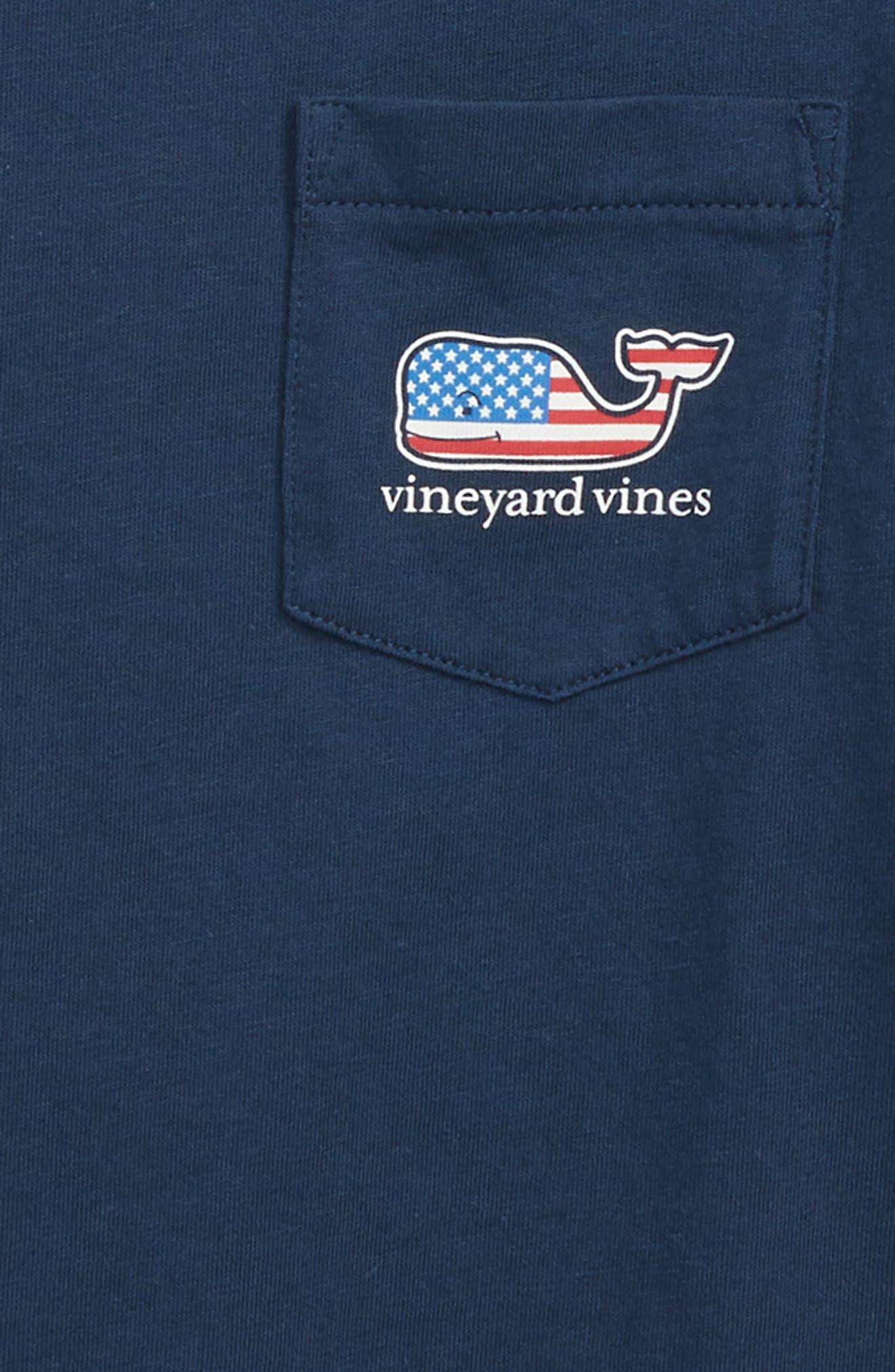 Flag Whale Pocket T-Shirt,                             Alternate thumbnail 3, color,                             406