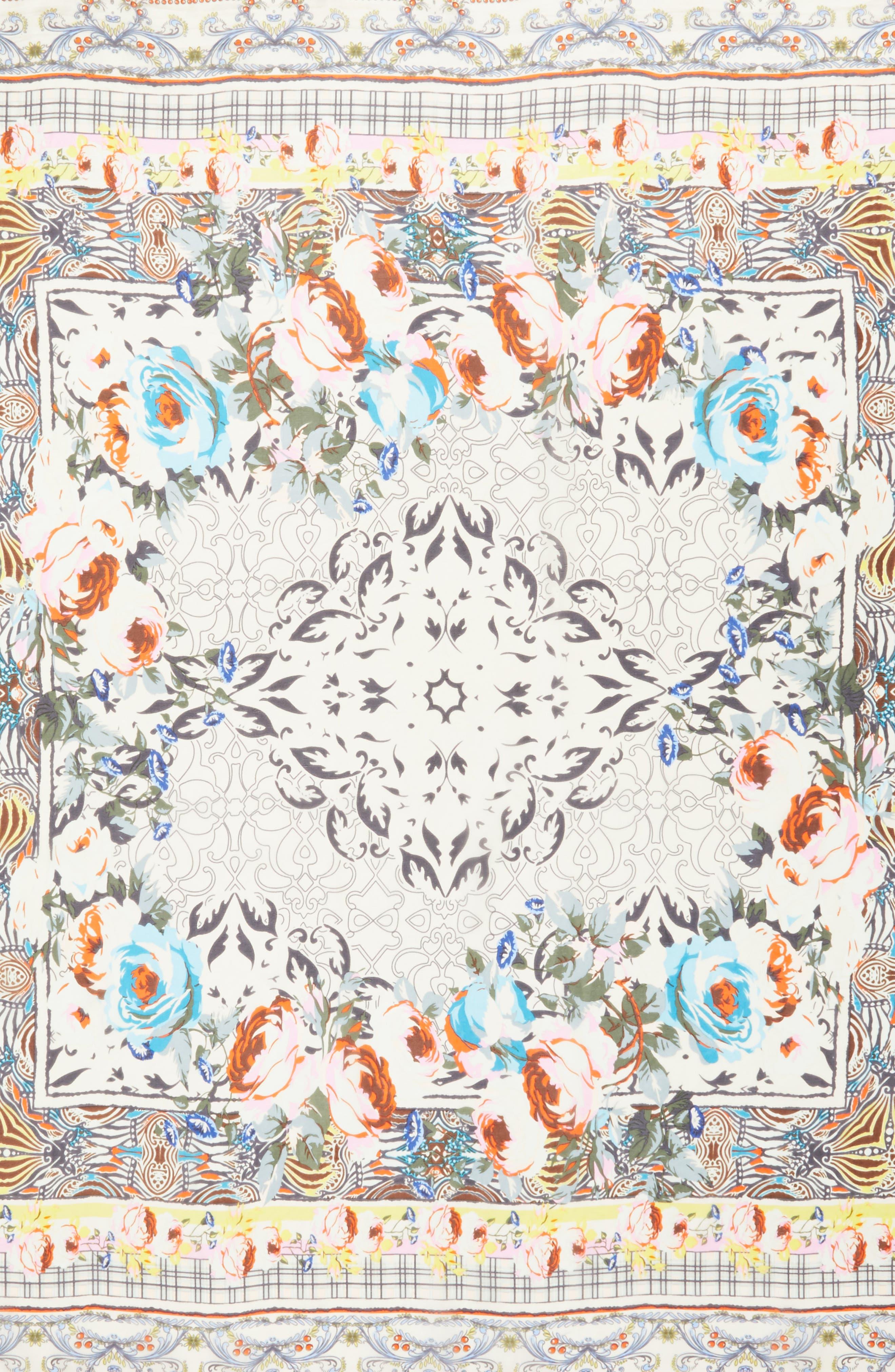 Tribute Silk Square Scarf,                             Alternate thumbnail 4, color,