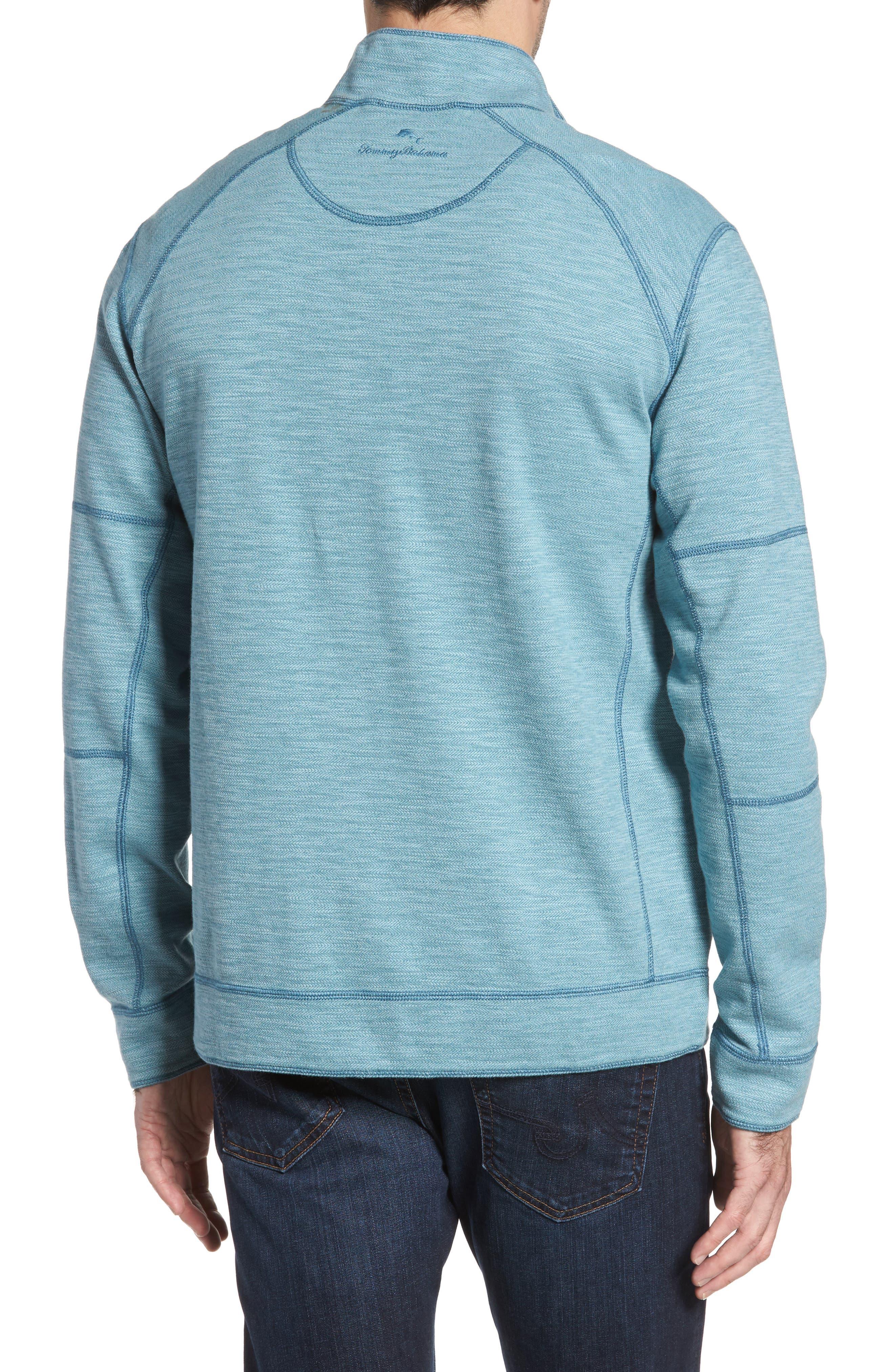 Sandbar Slub Reversible Quarter Zip Pullover,                             Alternate thumbnail 8, color,