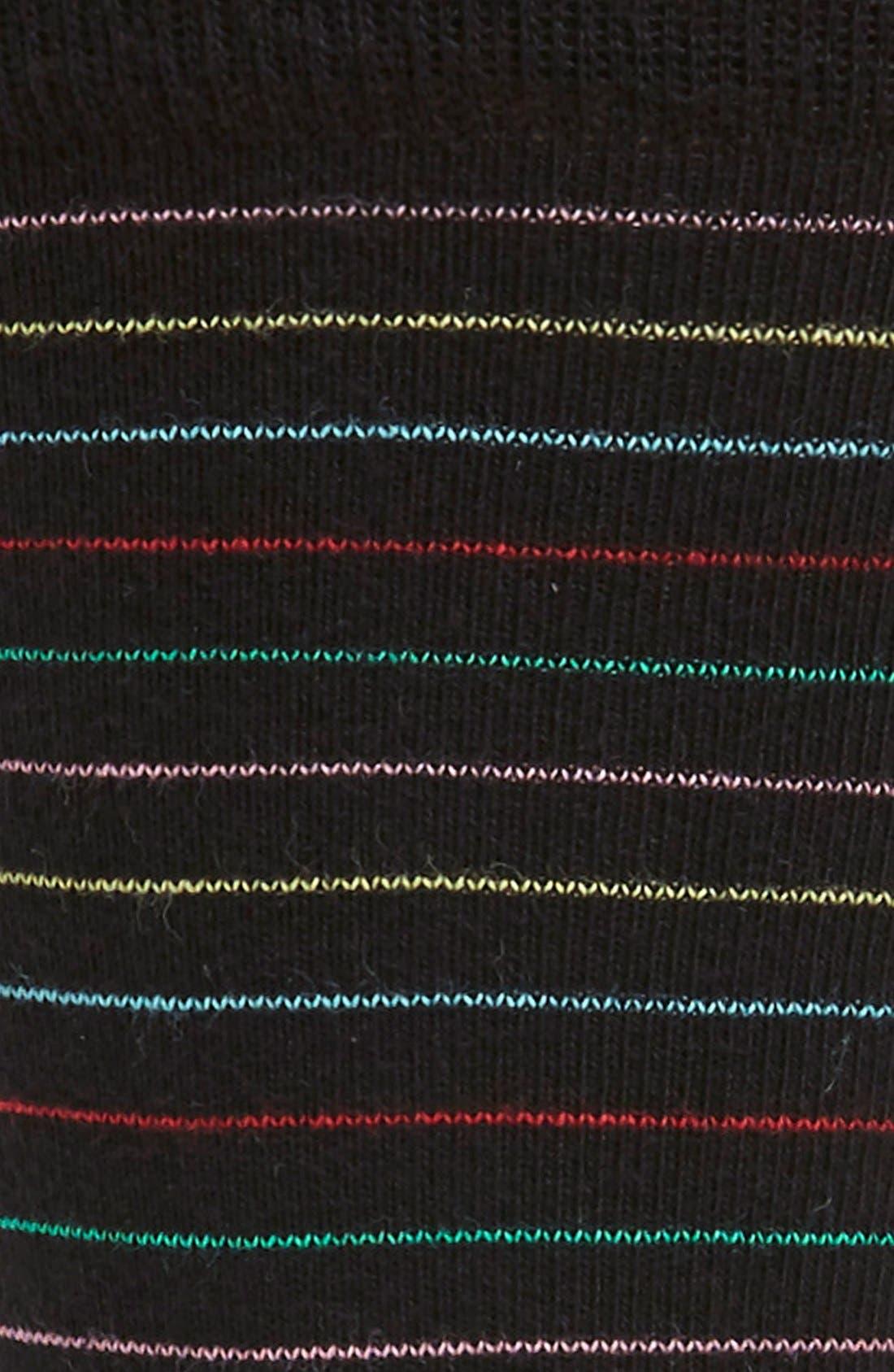 Thin Stripe Socks,                             Alternate thumbnail 2, color,                             001