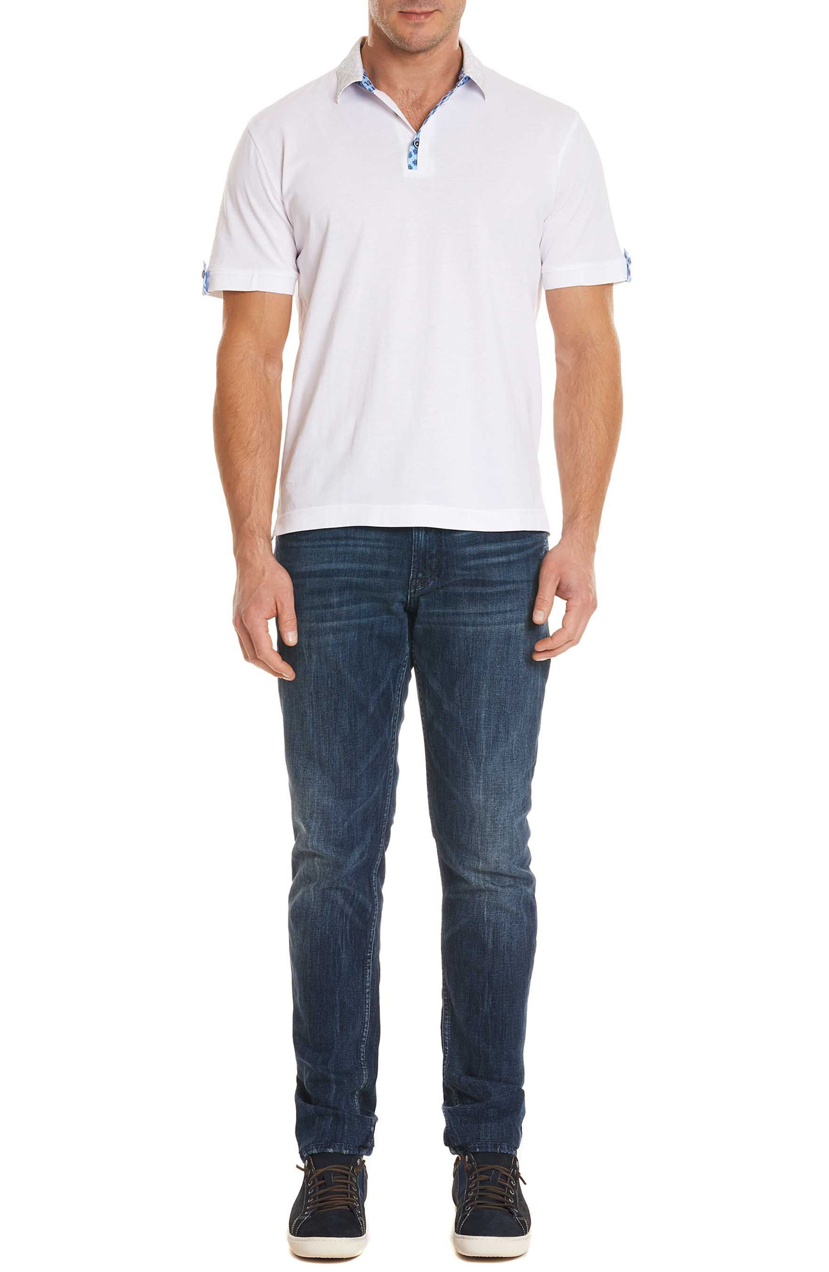 Diego Classic Fit Polo,                             Alternate thumbnail 6, color,                             WHITE