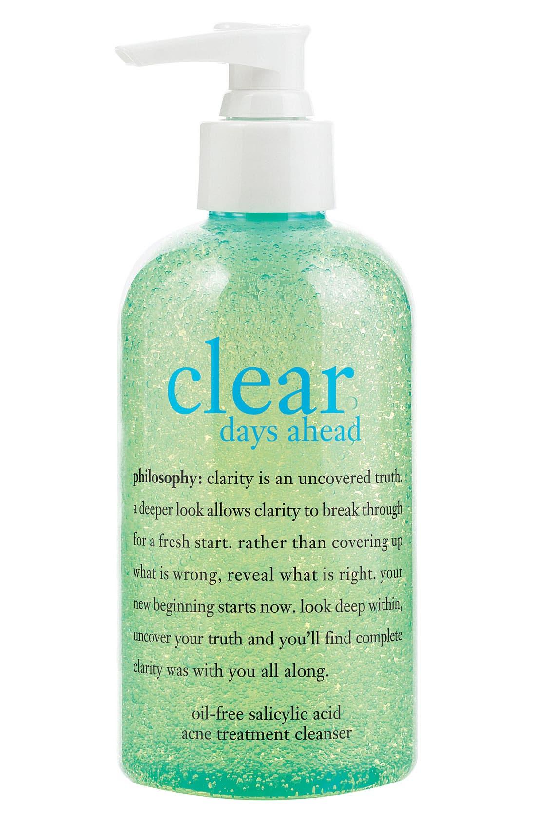 'clear days ahead' acne treatment cleanser,                             Main thumbnail 1, color,                             000