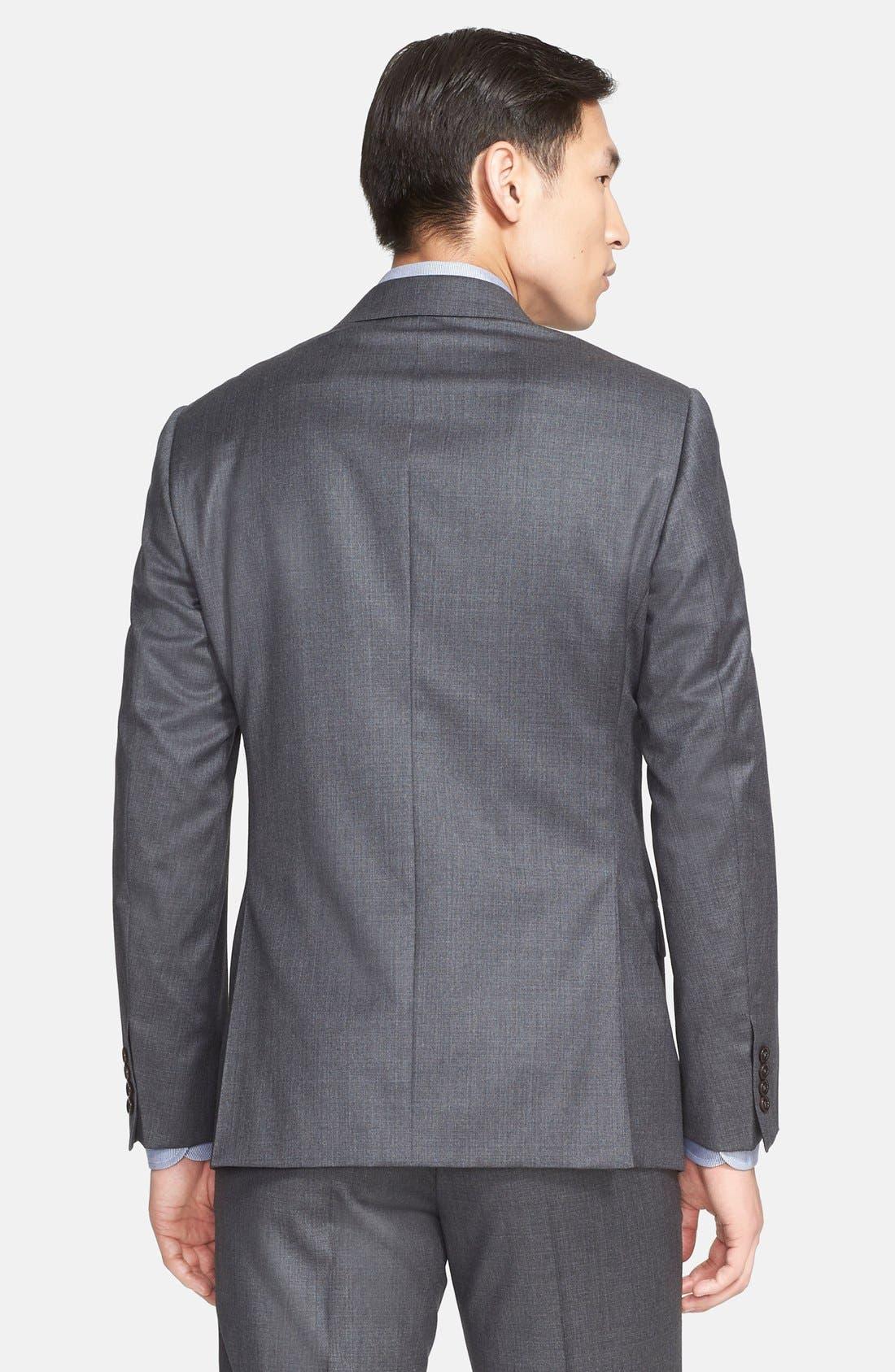 G-Line Trim Fit Solid Wool Suit,                             Alternate thumbnail 8, color,