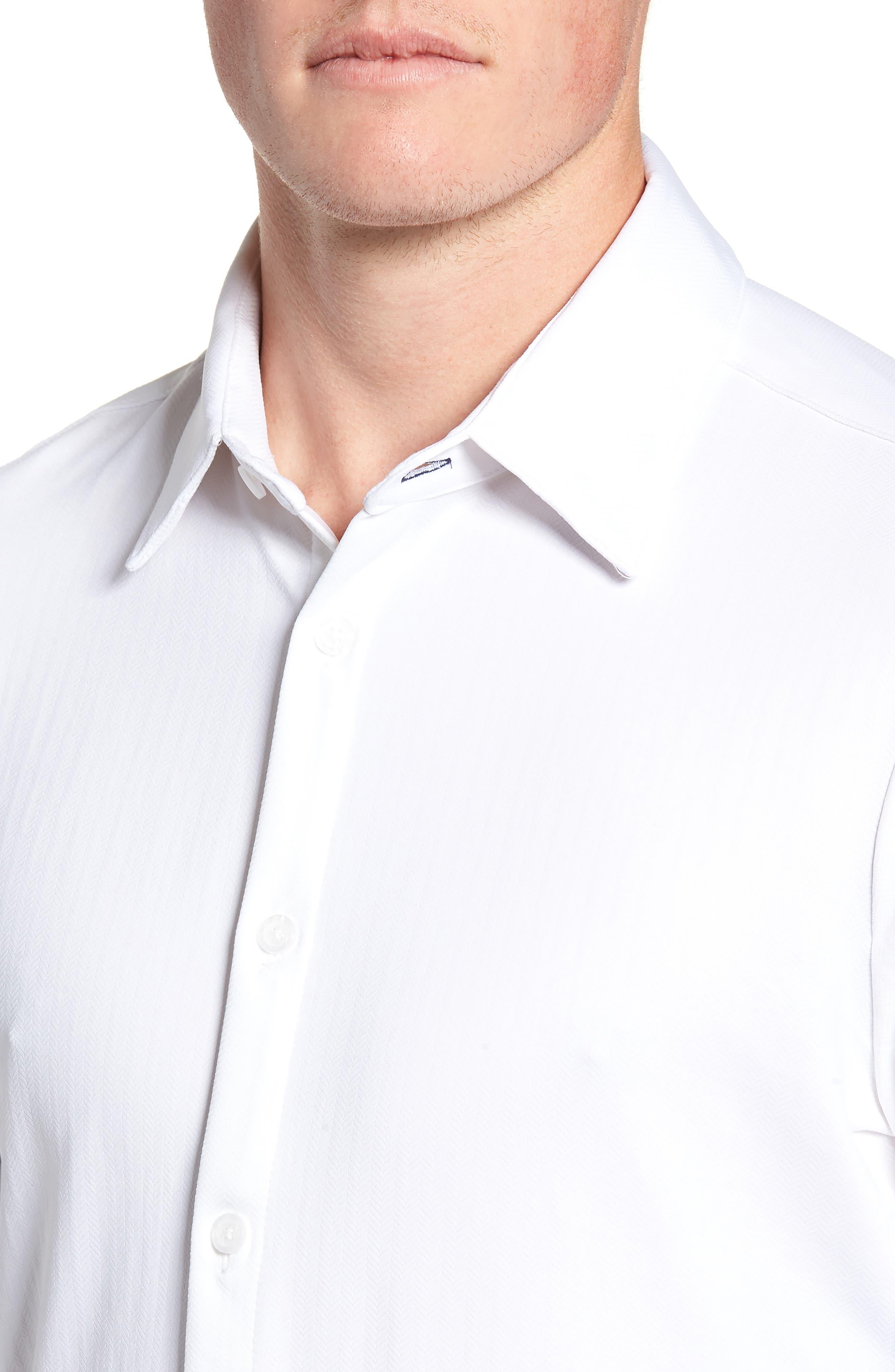 MIZZEN+MAIN,                             Parker Regular Fit Sport Shirt,                             Alternate thumbnail 2, color,                             100