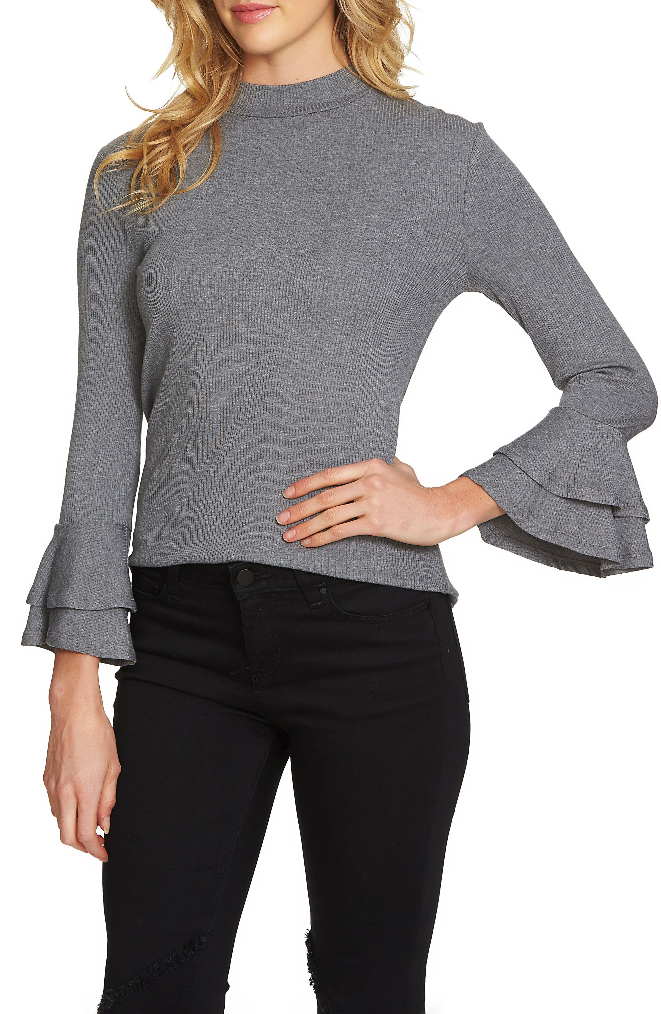 Bell Sleeve Top,                             Main thumbnail 2, color,