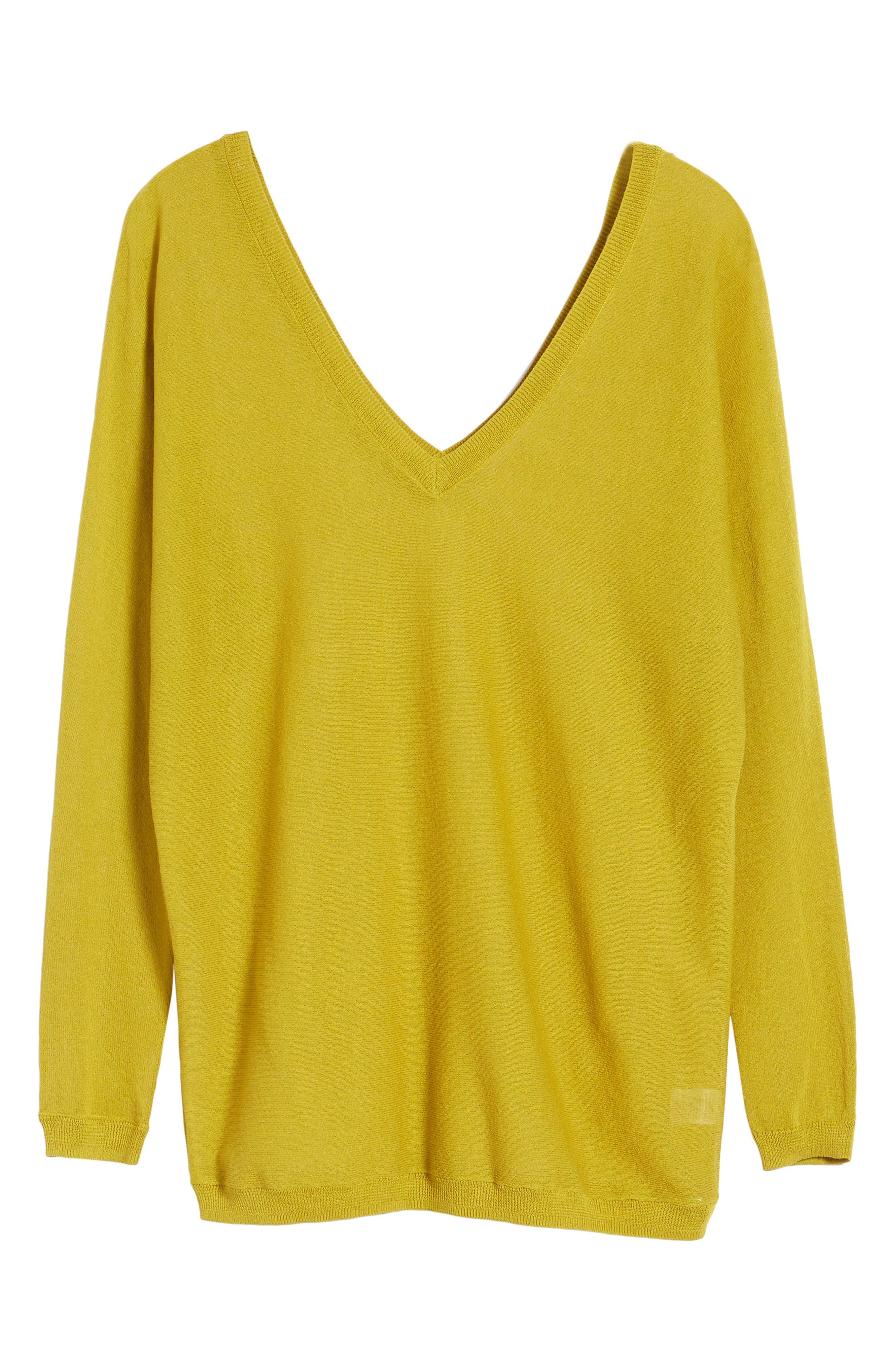 Double V-Neck Sweater,                             Alternate thumbnail 17, color,