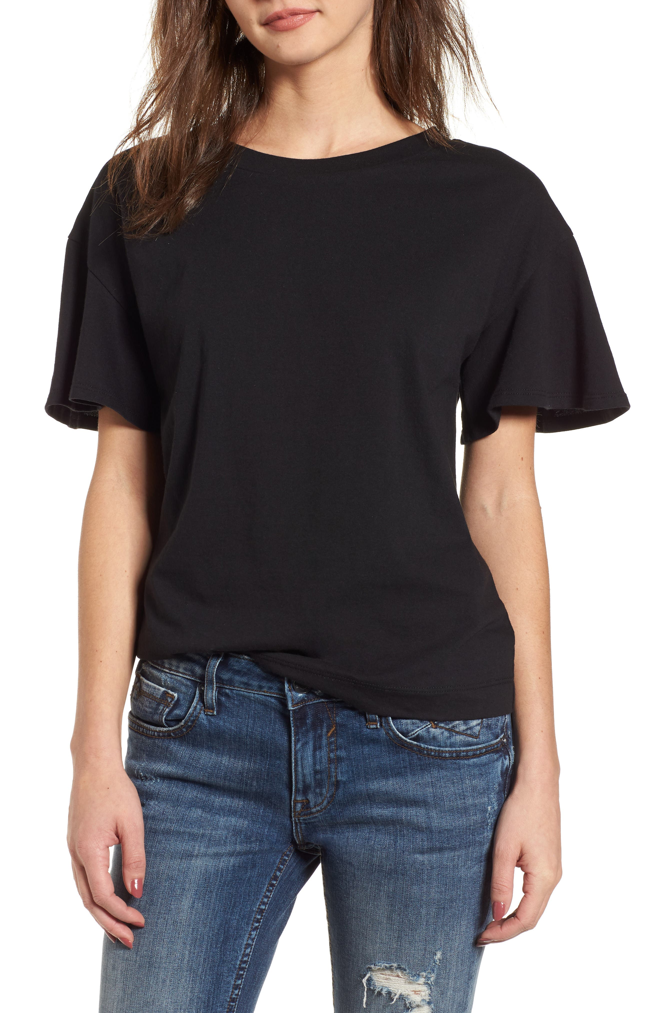 Flutter Sleeve Tee,                             Main thumbnail 1, color,