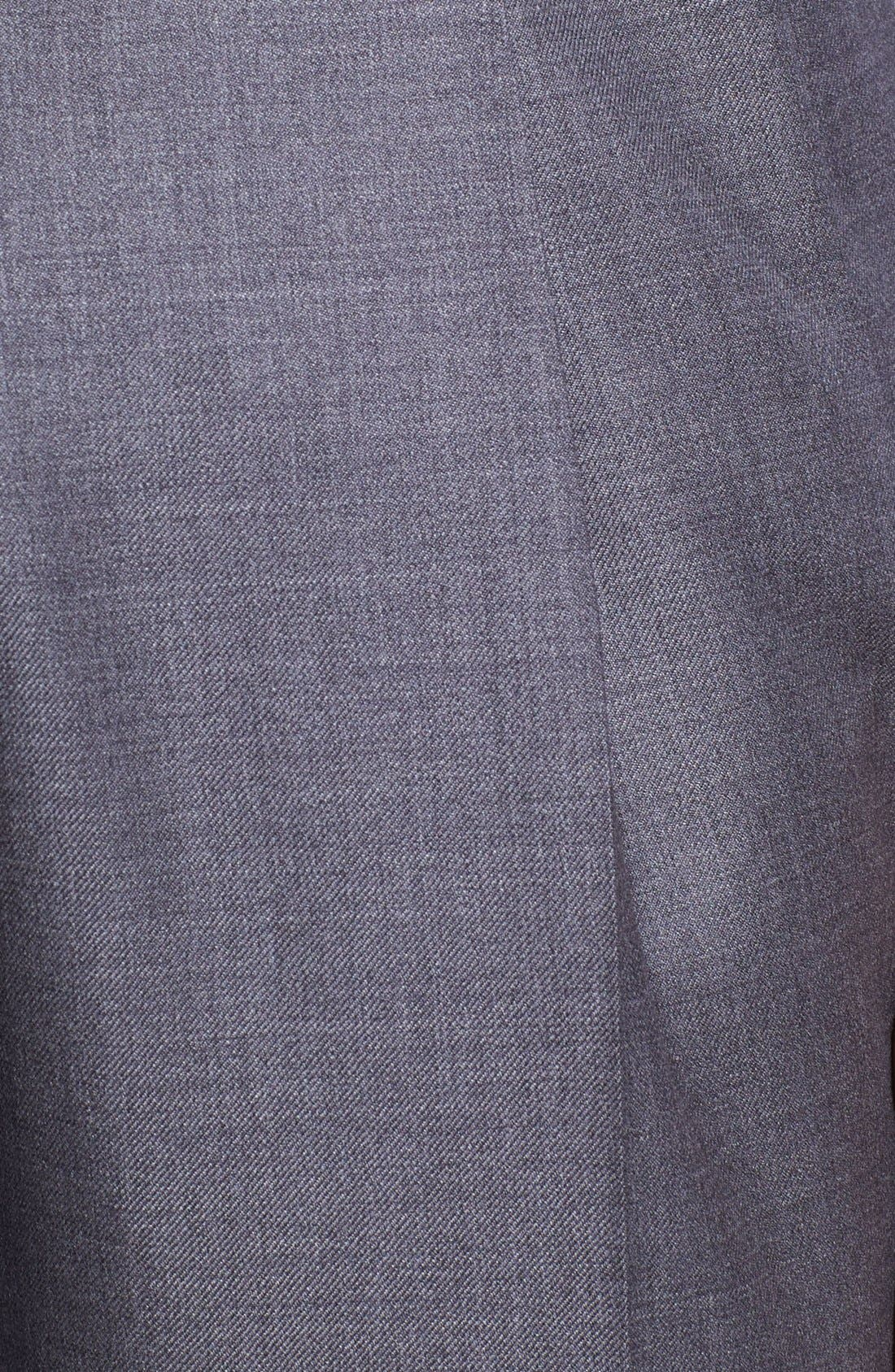 'Luxury Serge' Double Pleated Wool Trousers,                             Alternate thumbnail 2, color,                             MED GREY