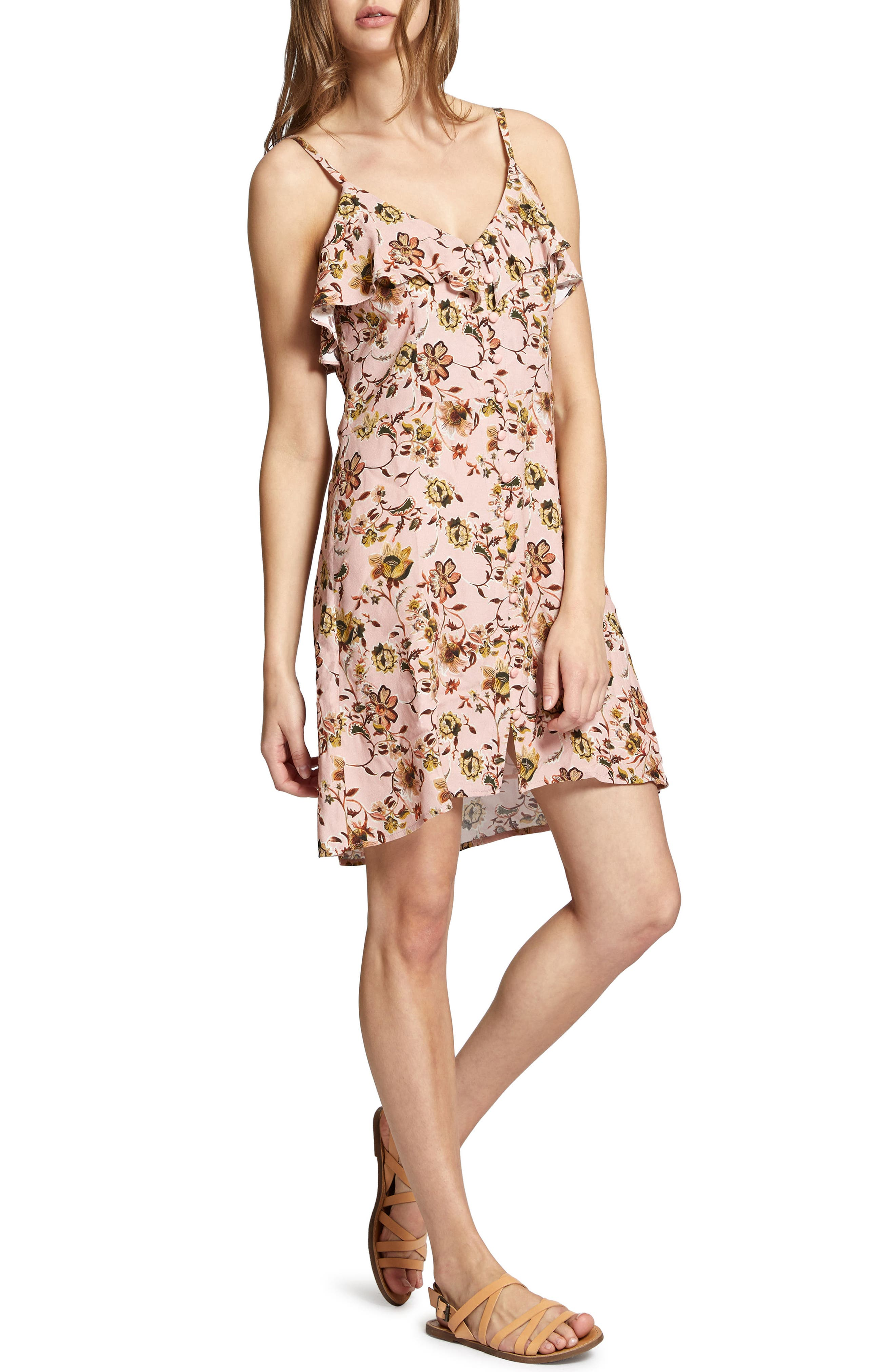 Rafaella Floral Print Dress,                             Alternate thumbnail 7, color,