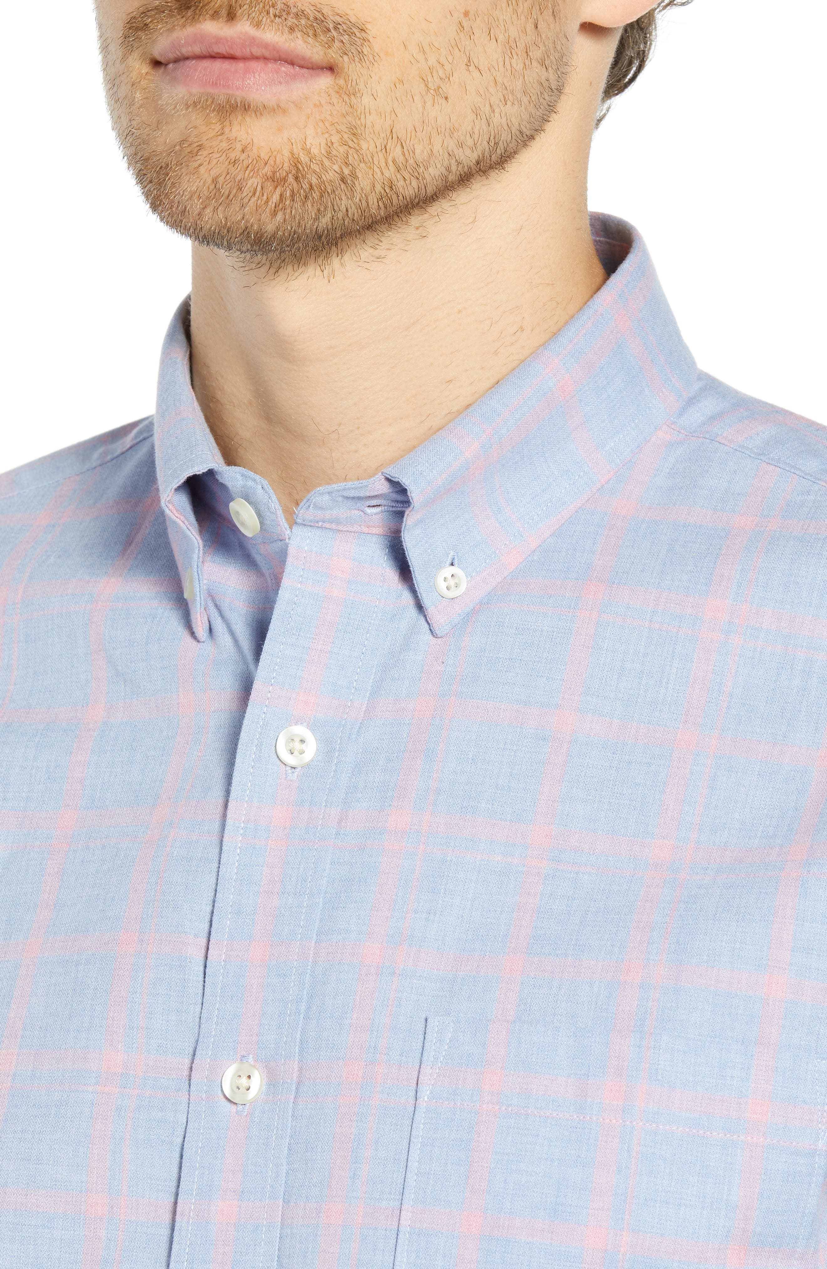 Slim Fit Chambray Sport Shirt,                             Alternate thumbnail 2, color,                             450