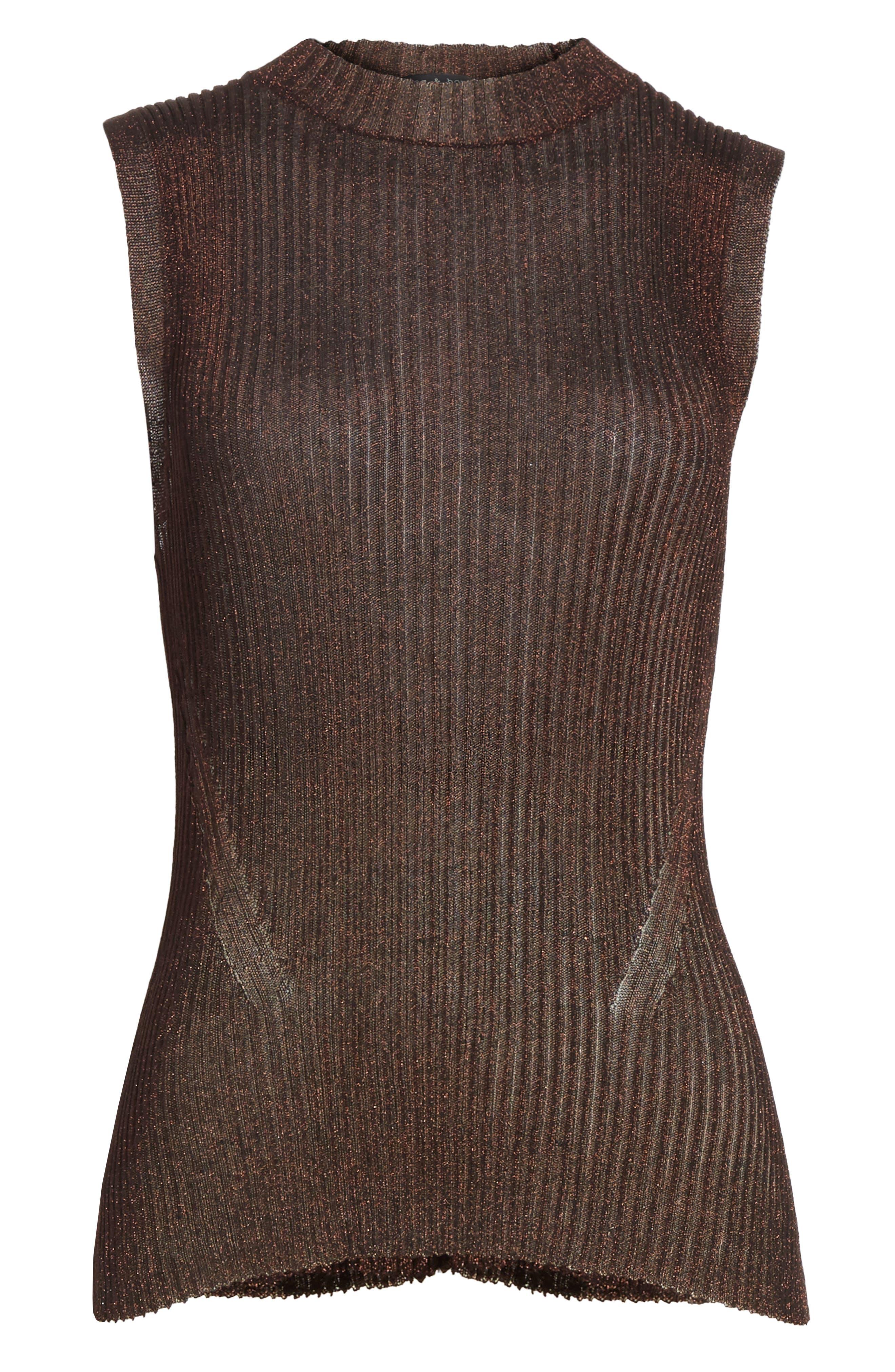 Halsey Metallic Sweater Tank,                             Alternate thumbnail 6, color,                             220