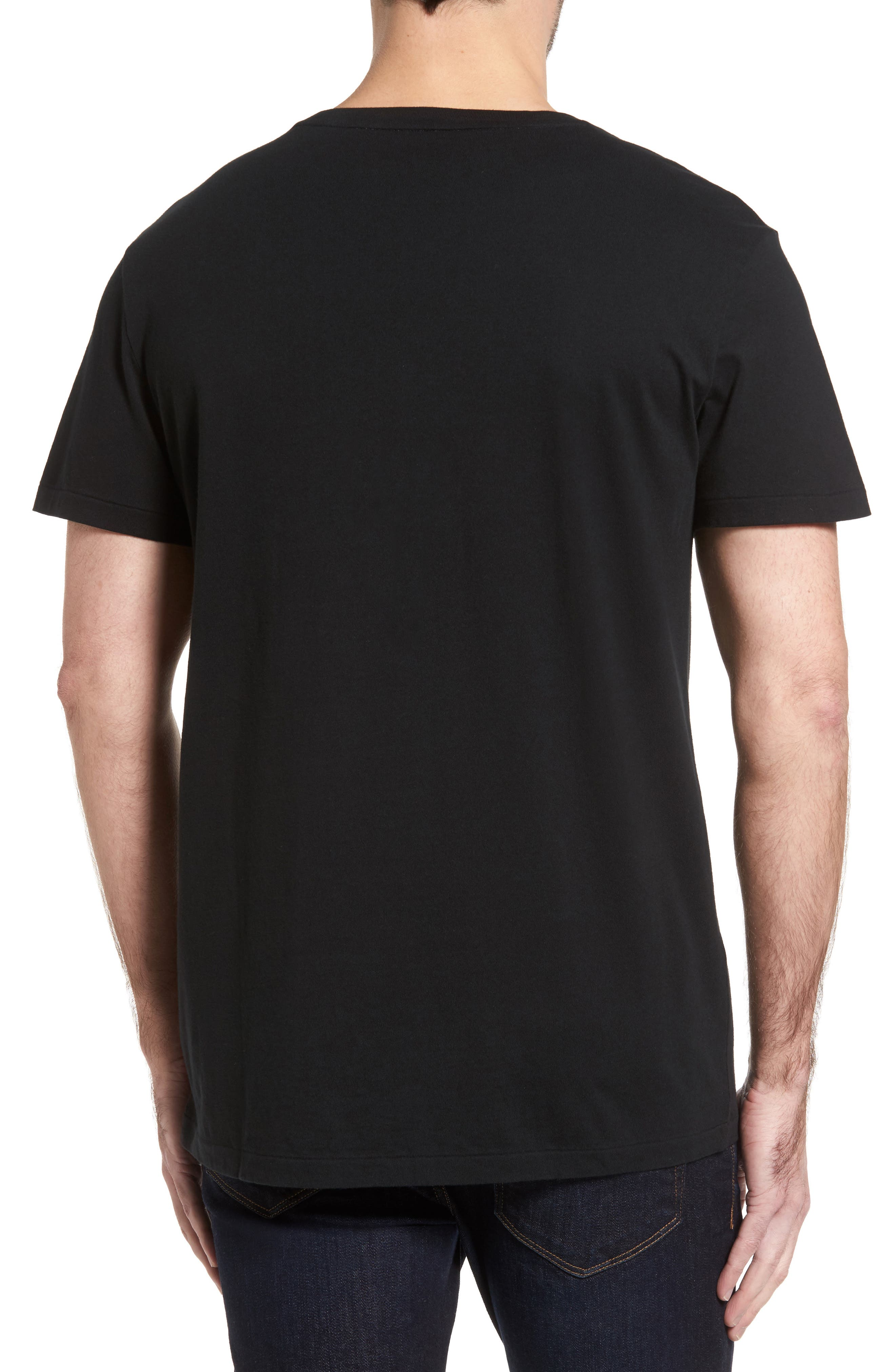 V-Neck T-Shirt,                             Alternate thumbnail 2, color,                             002