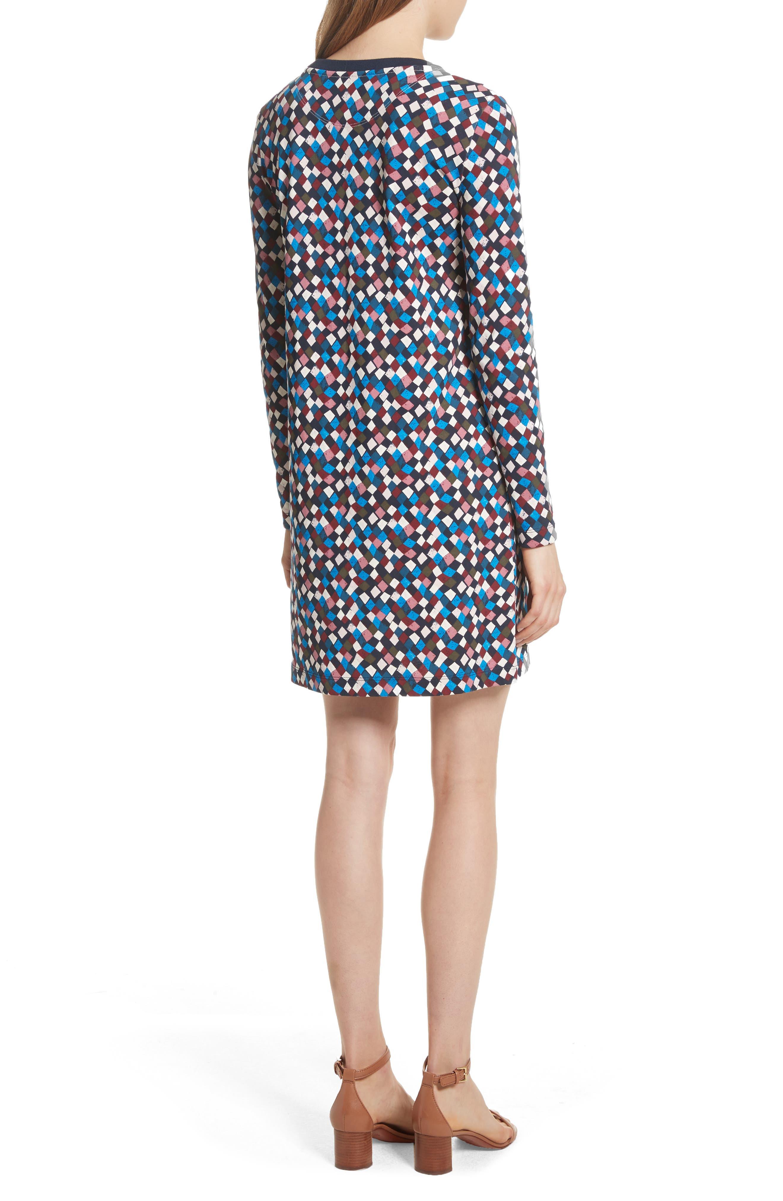 Maggie Print Cotton Shift Dress,                             Alternate thumbnail 2, color,                             487