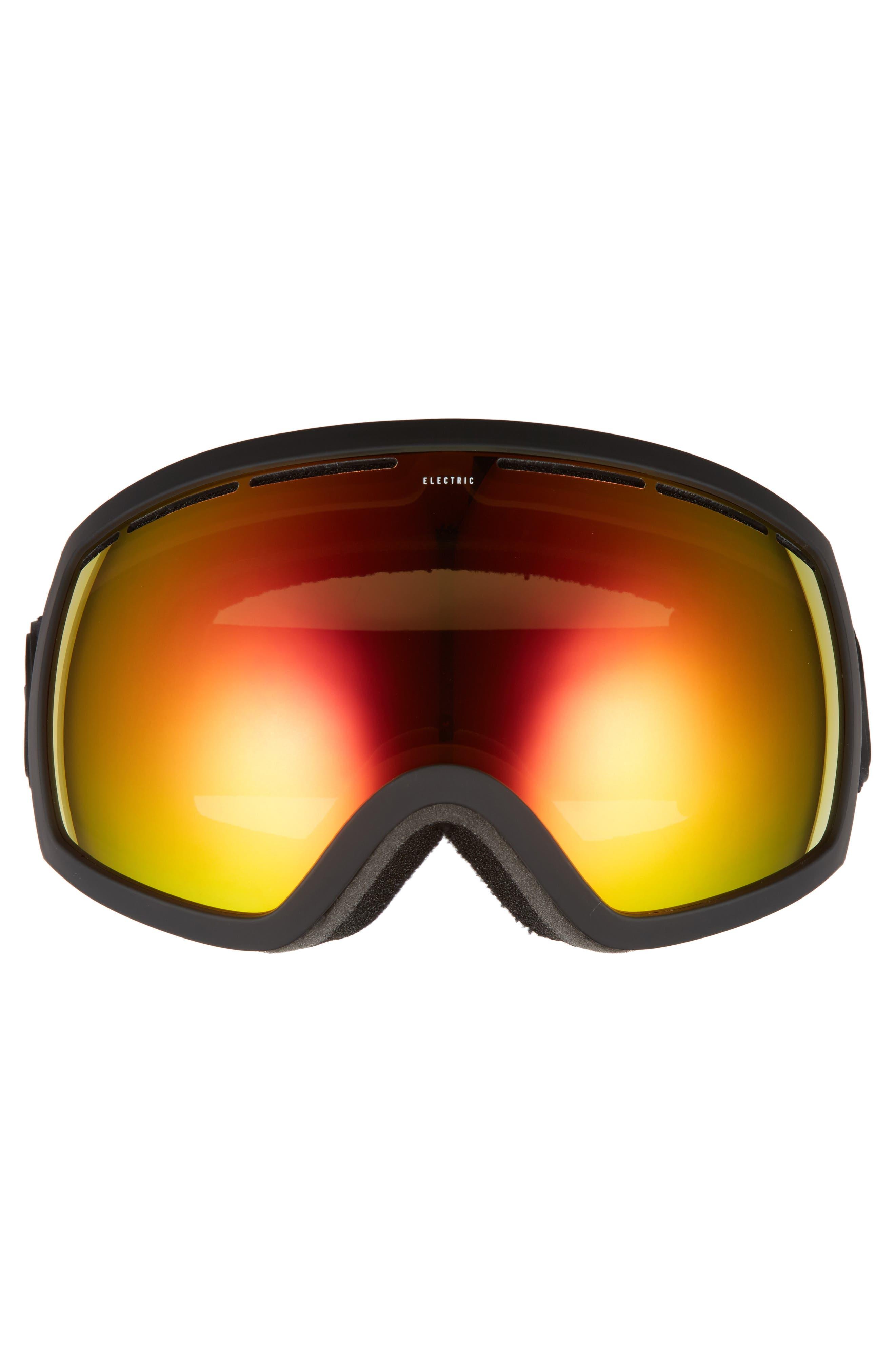 EG2 Snow Goggles,                             Alternate thumbnail 3, color,                             MATTE BLACK/ RED CHROME