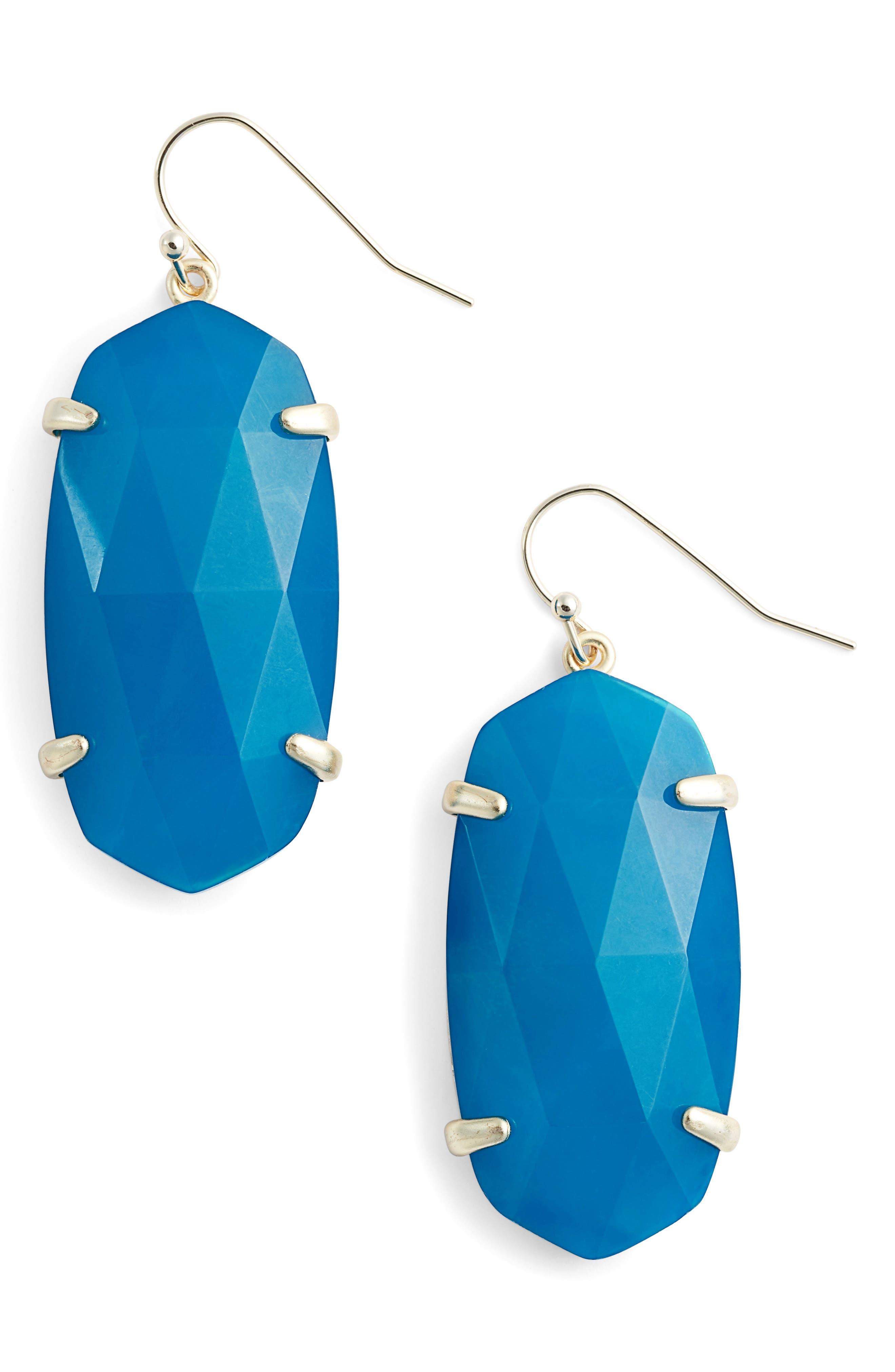 Esme Drop Earrings,                         Main,                         color, TEAL UNBANDED AGATE/ GOLD